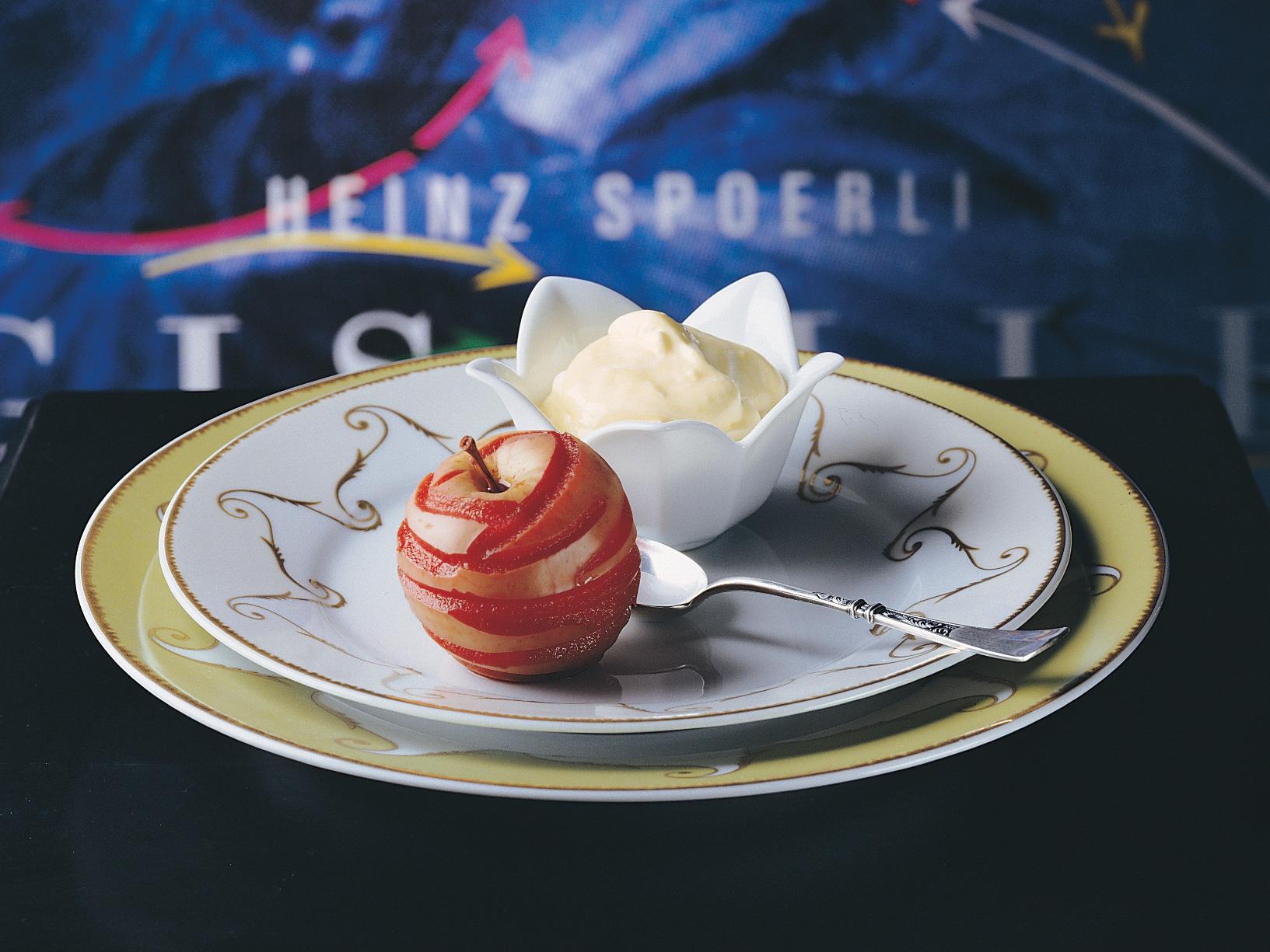 Pommes à la crème d'anis étoilé