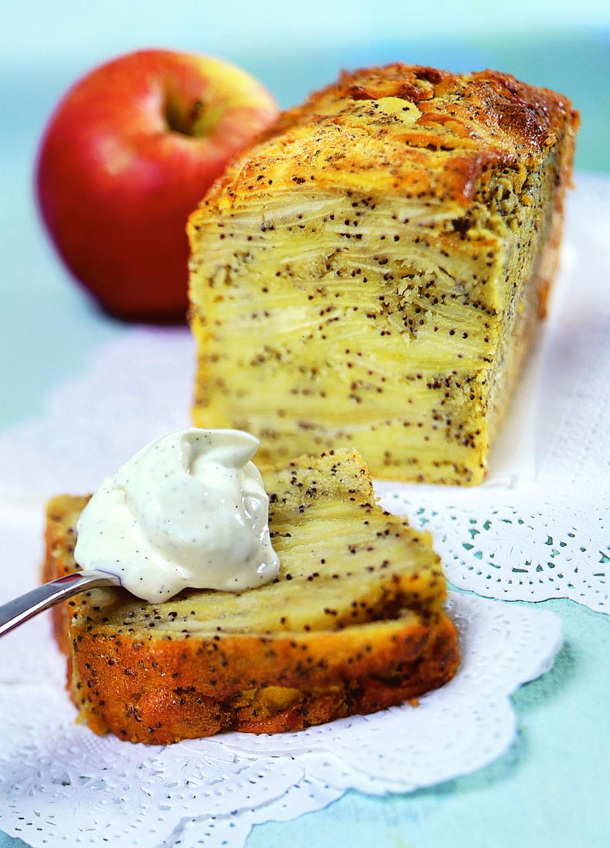 Cake aux pommes et au pavot