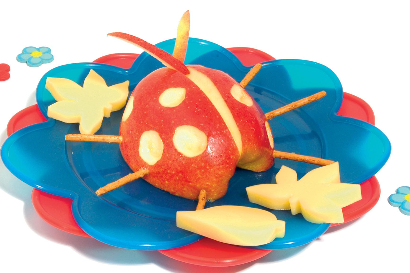 "Pomme et fromage ""coccinelle"""