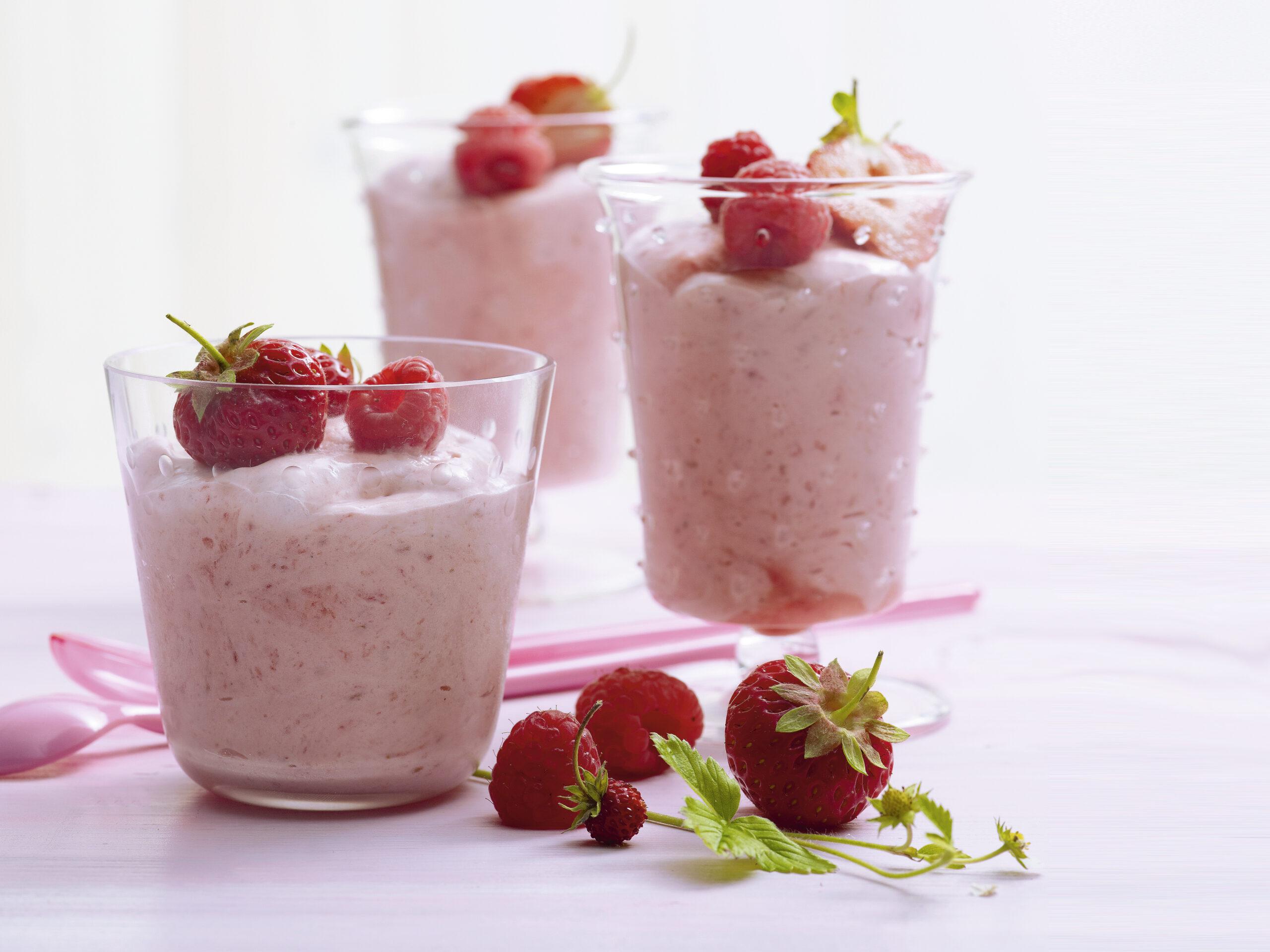 Mousse fraises-framboises