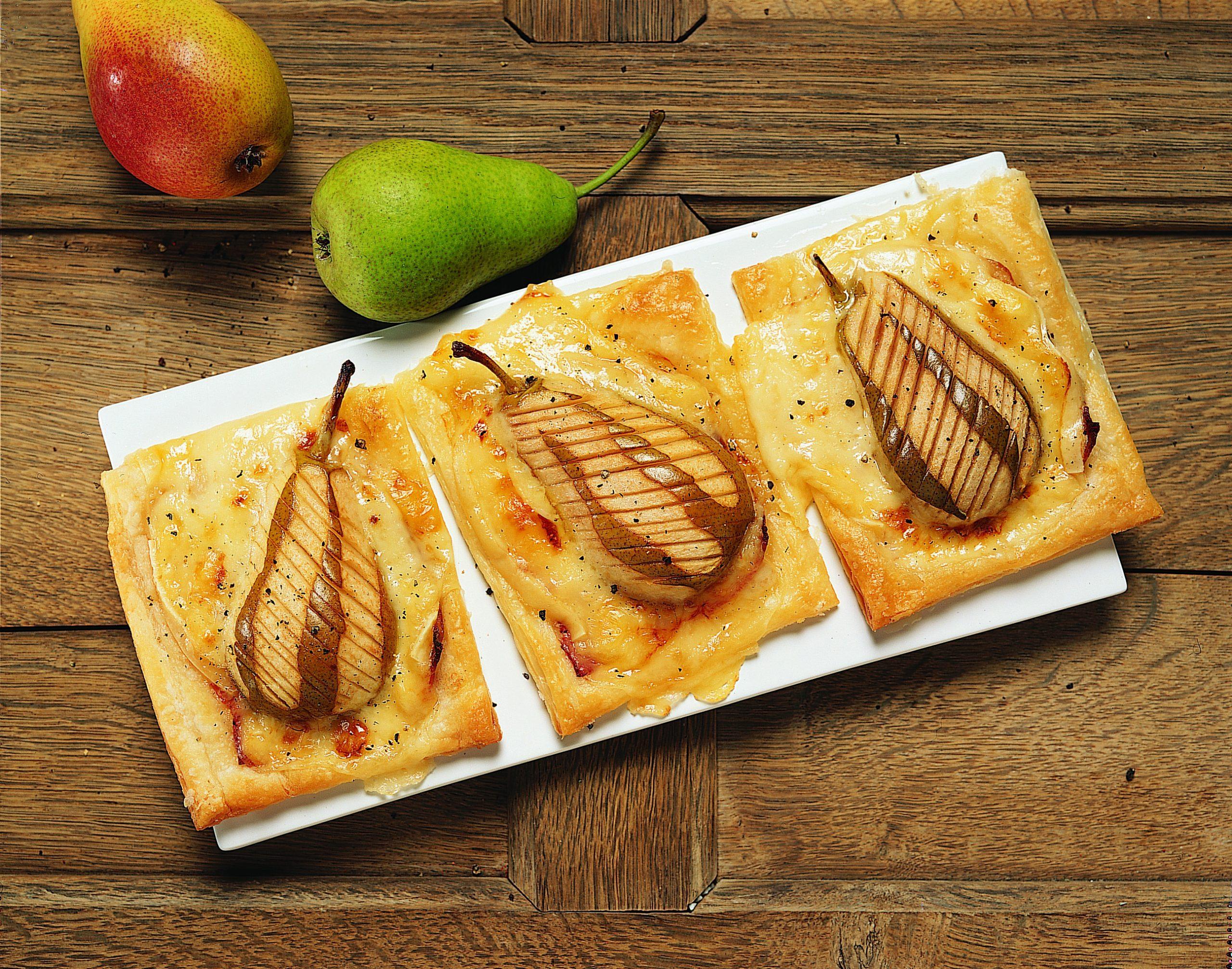 Jalousies aux poires, au jambon et au fromage à raclette