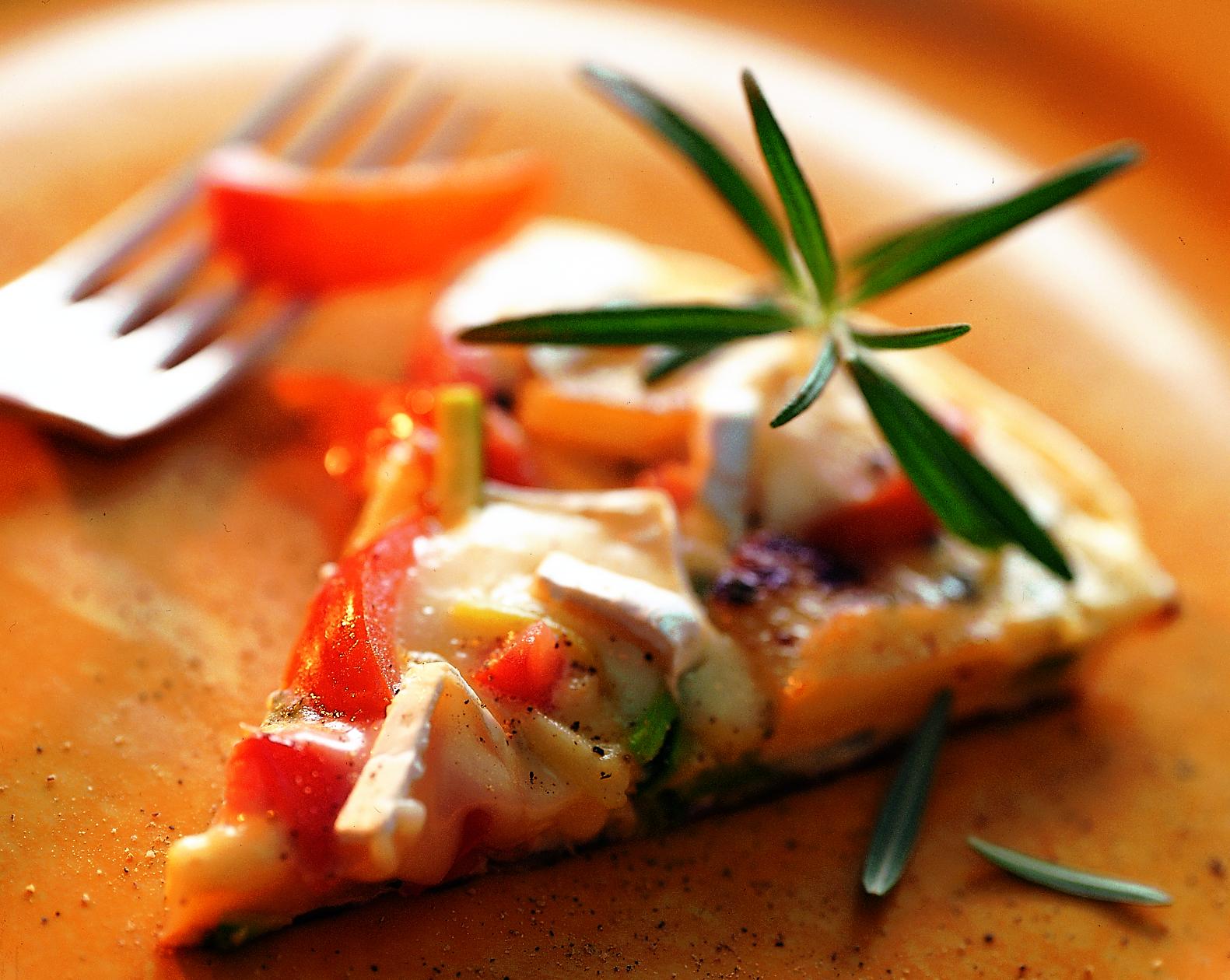 Tortilla tricolore au camembert