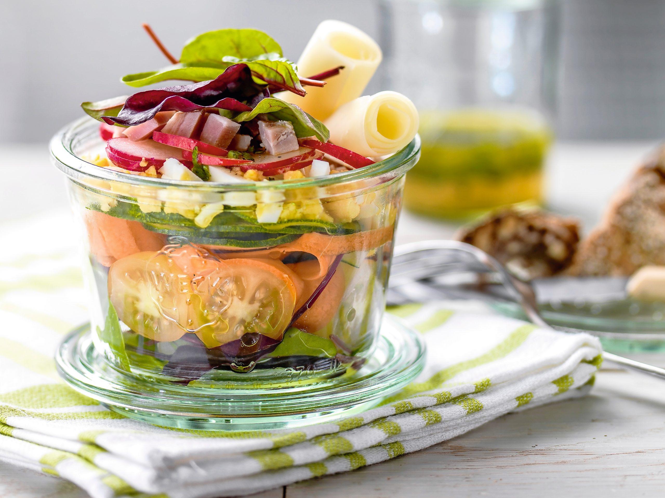 Verrine de salade (low carb)