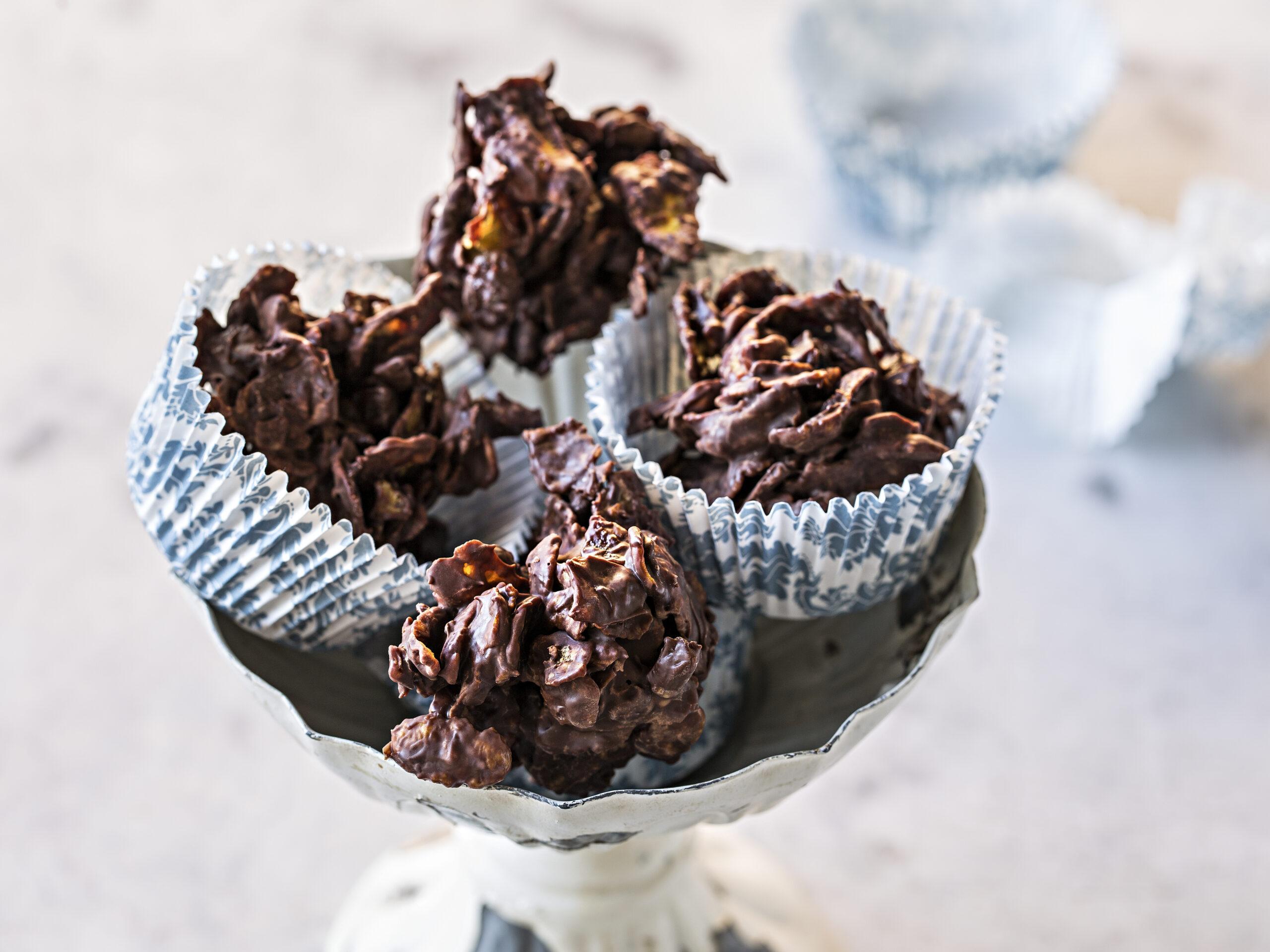Cornflakes-Guetzli mit Schokolade (ohne backen)