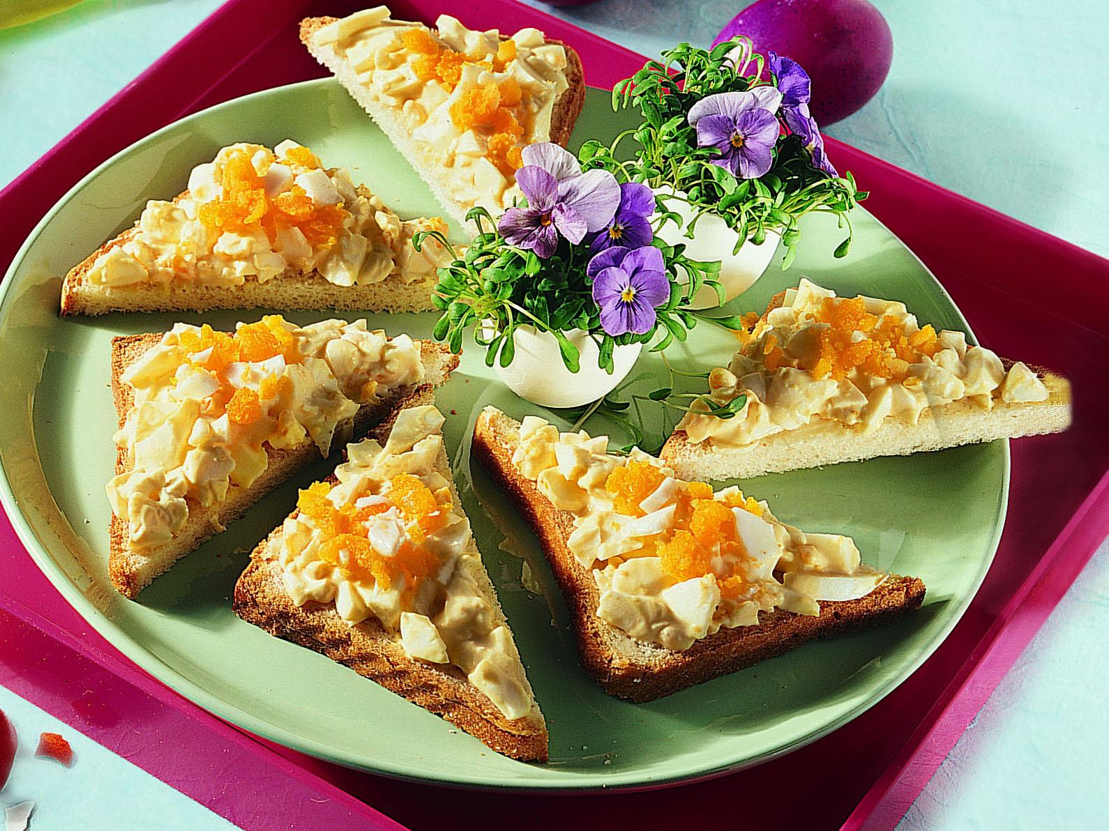 Crostini à la crème aux oeufs