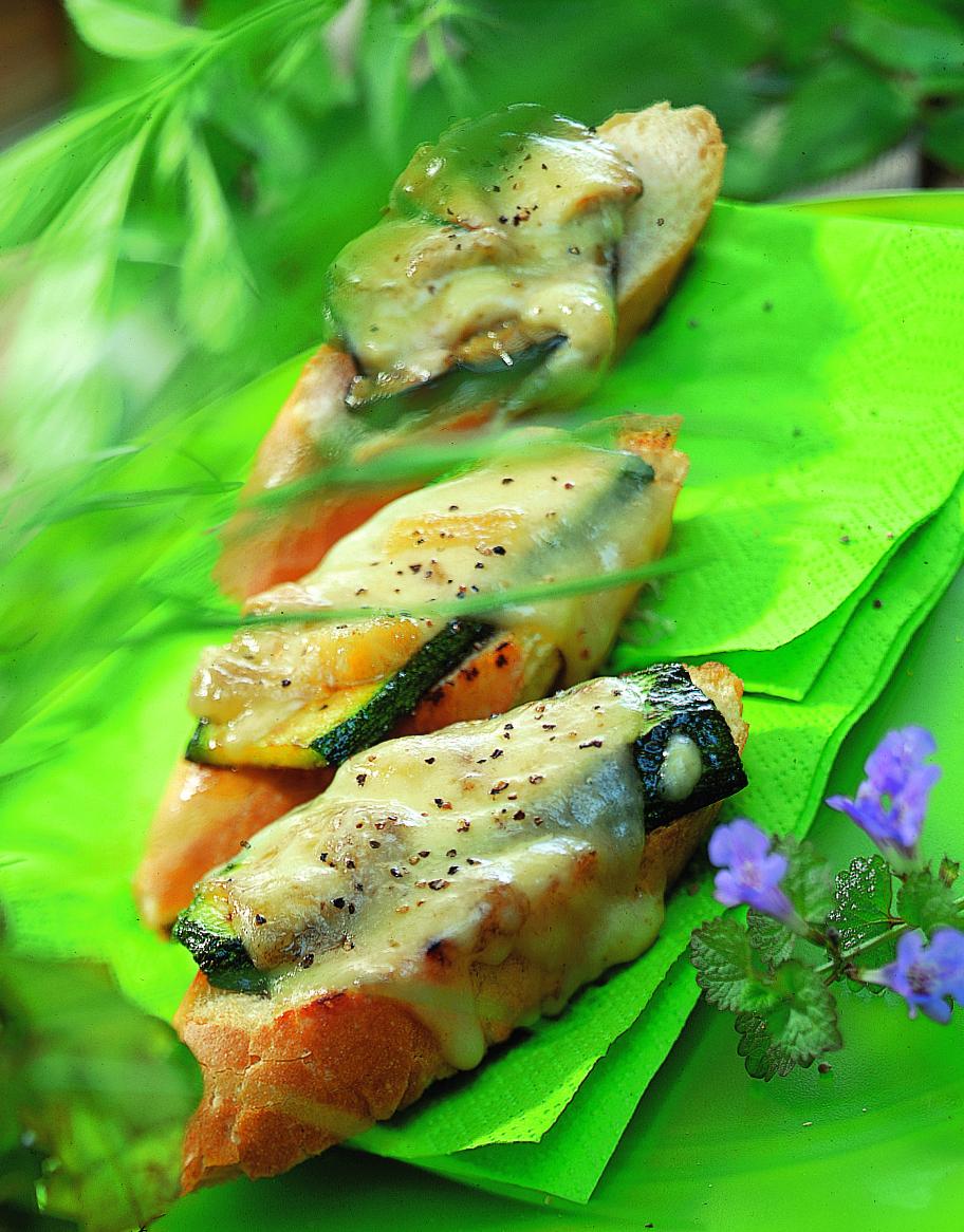 Crostini au fromage à raclette