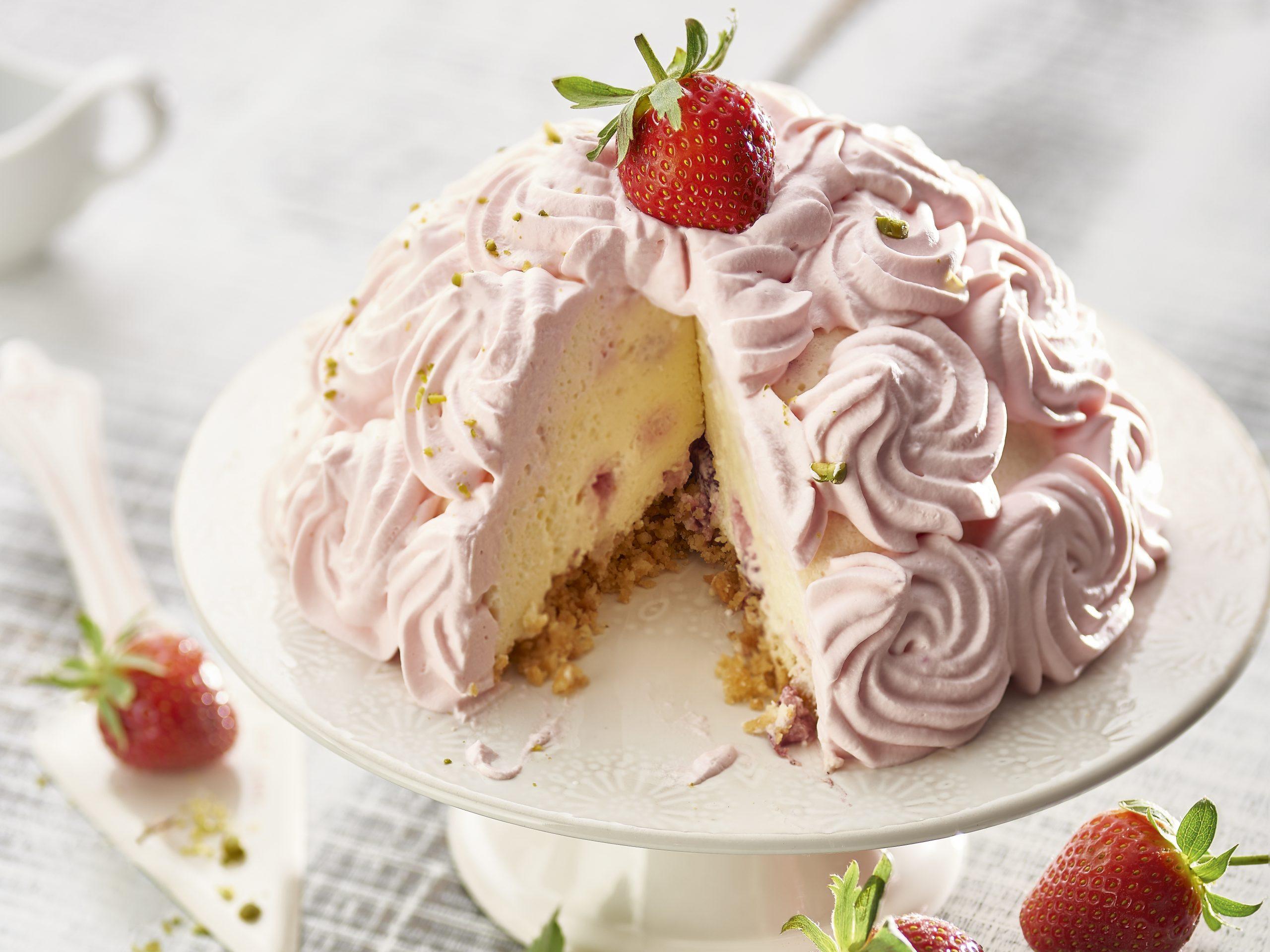 Erdbeer-Quarktorte (ohne backen)