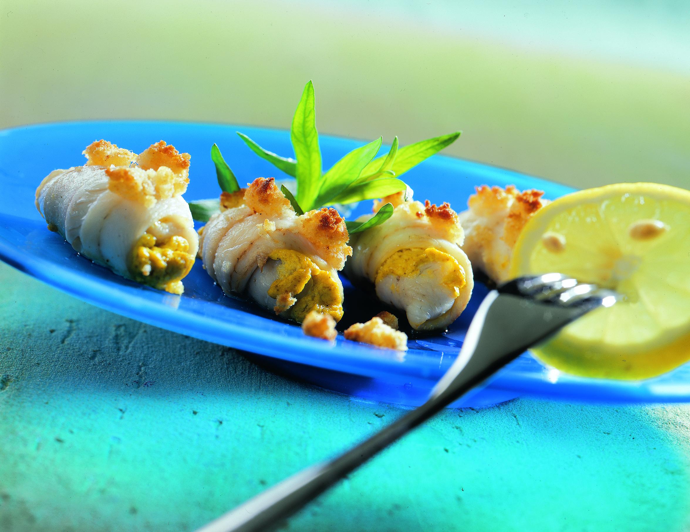 Paupiettes de poisson au gingembre
