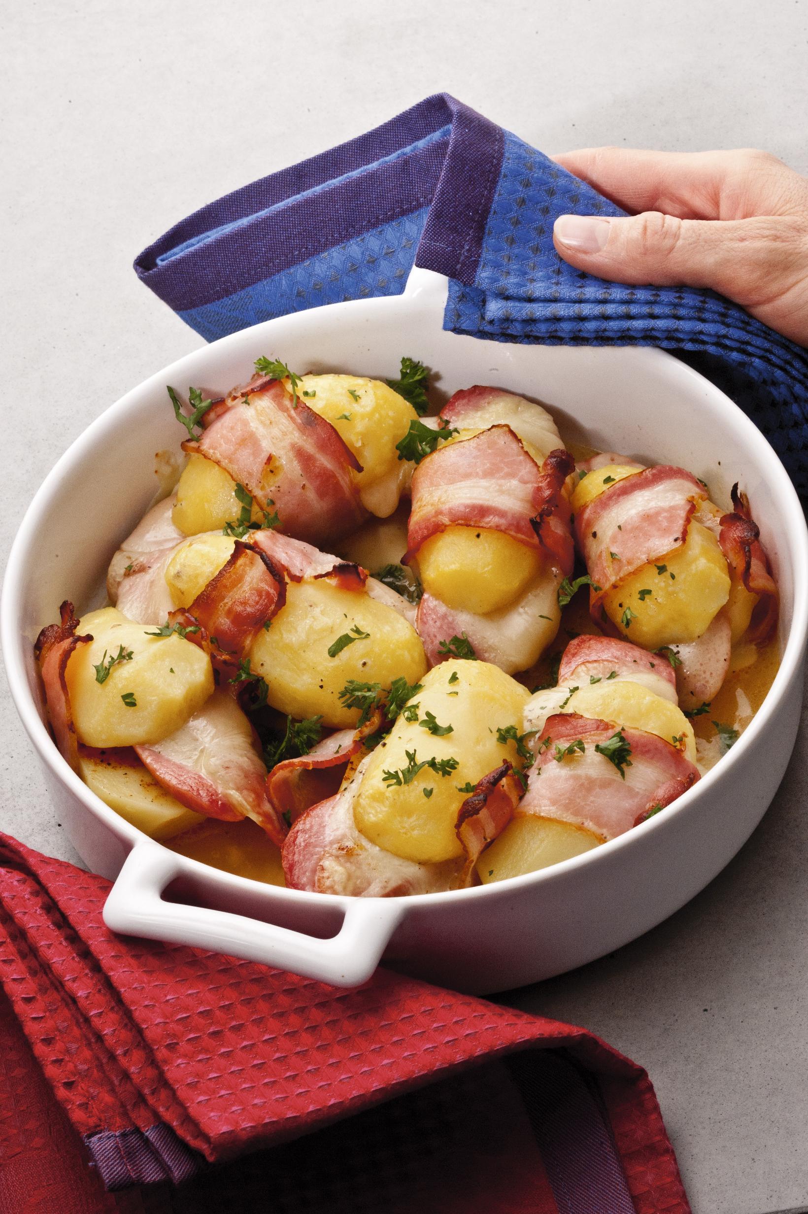 Gefüllte Cervelat-Kartoffeln