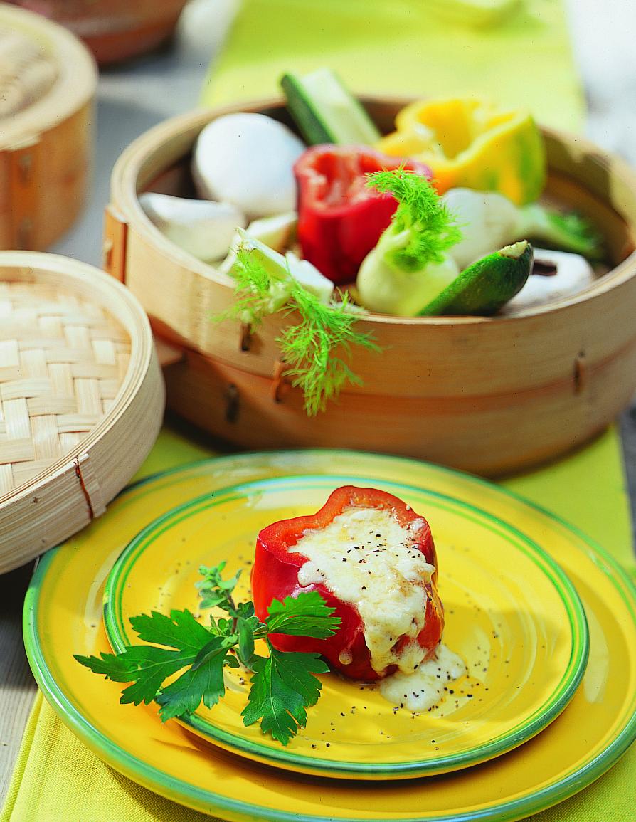 Légumes farcis au fromage à raclette