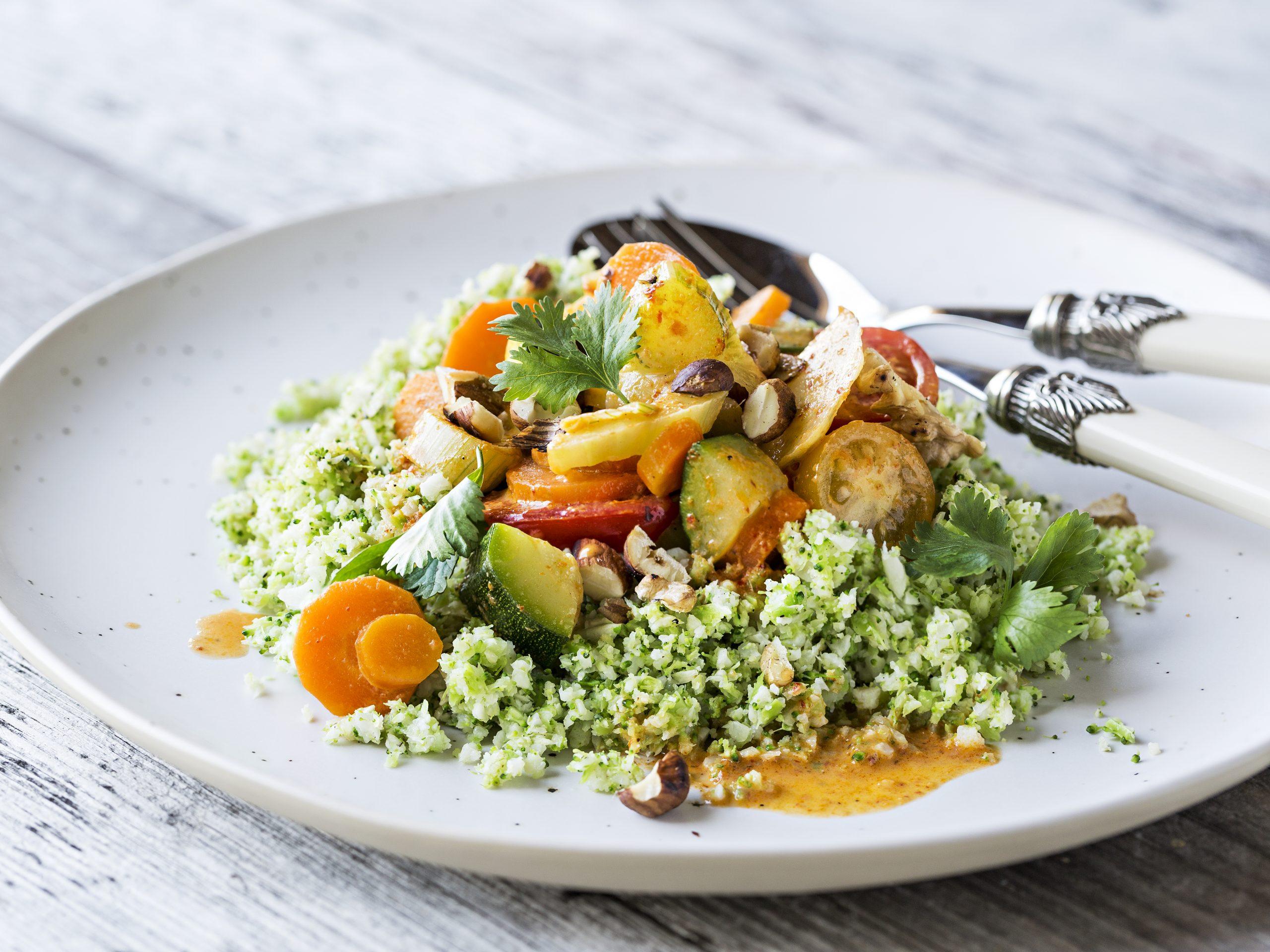 Curry de légumes et couscous low carb