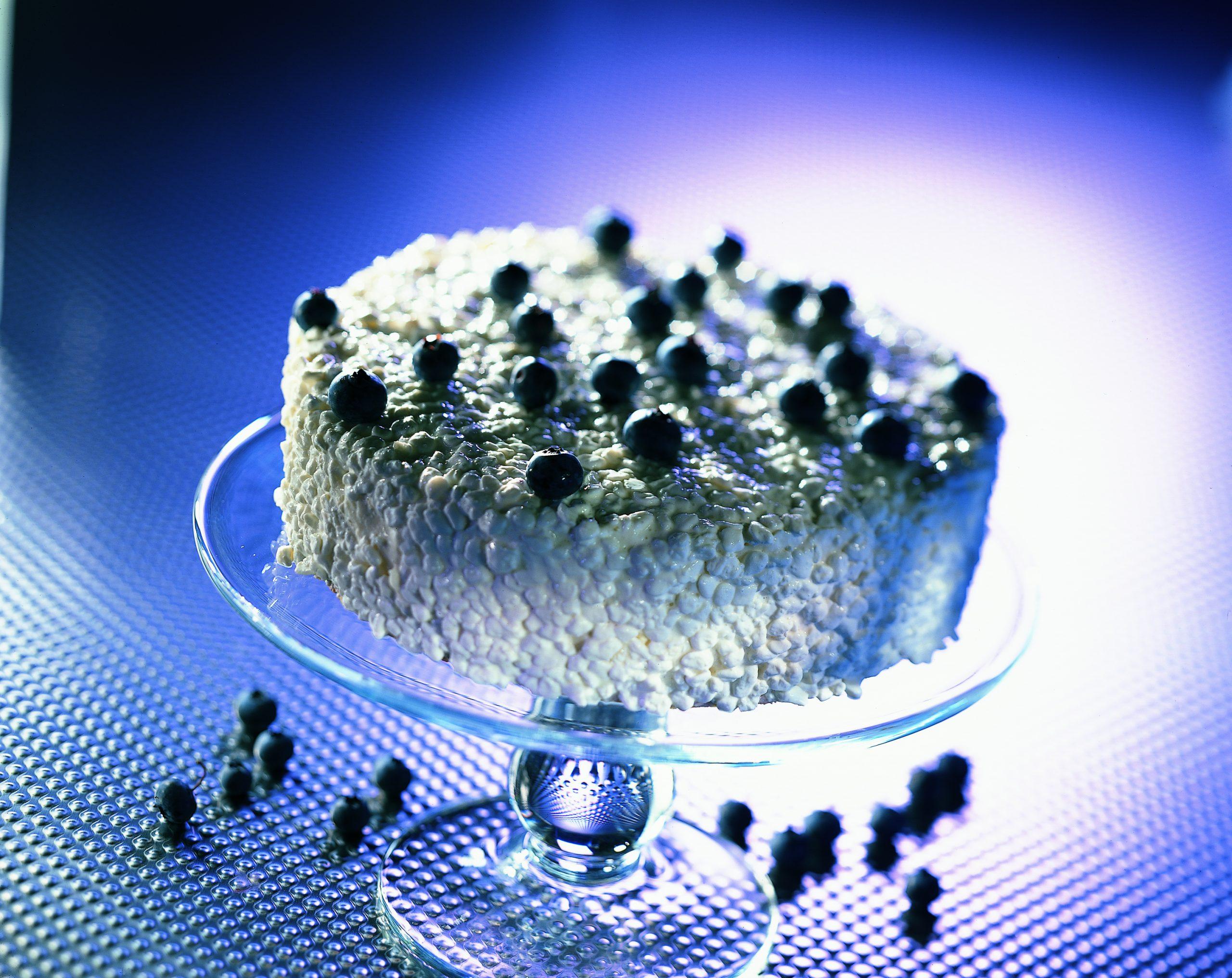 Gâteau de séré aux myrtilles