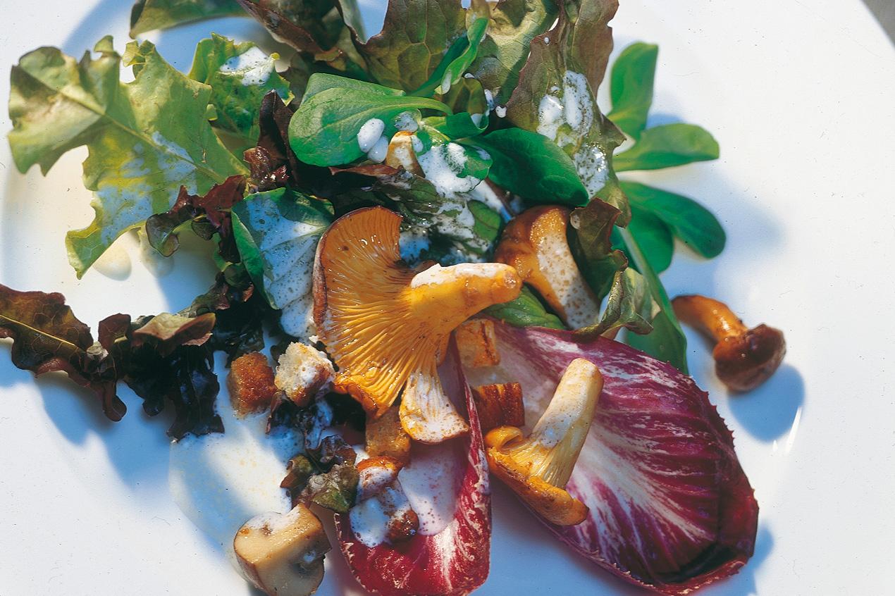 Salade d'automne aux champignons