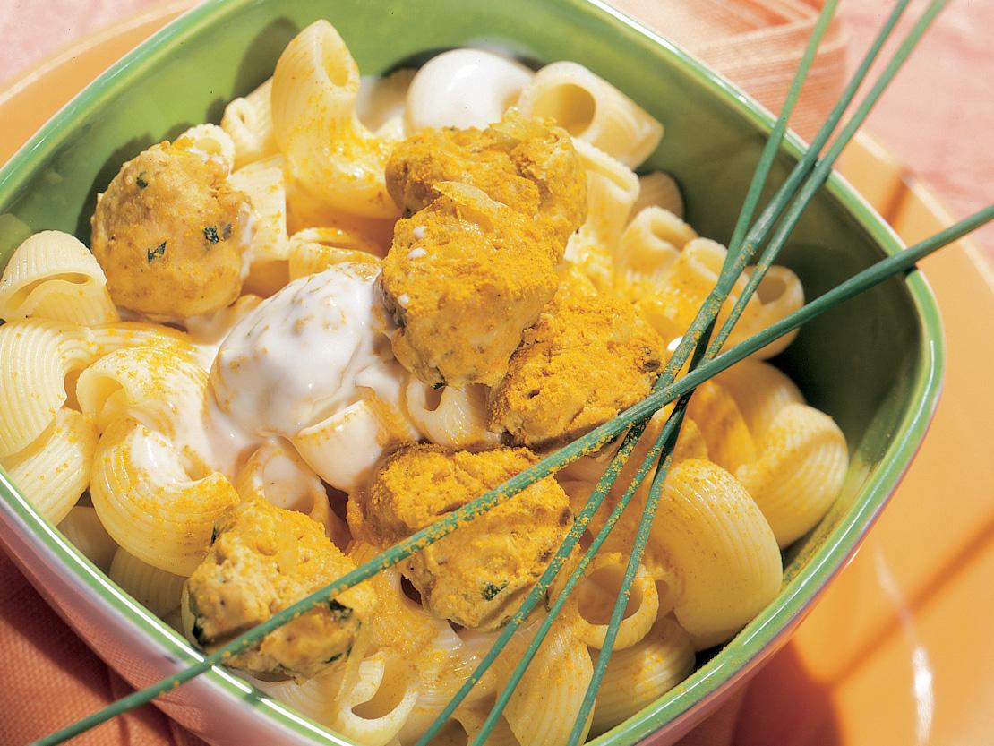 Cornettes et boulettes au curry