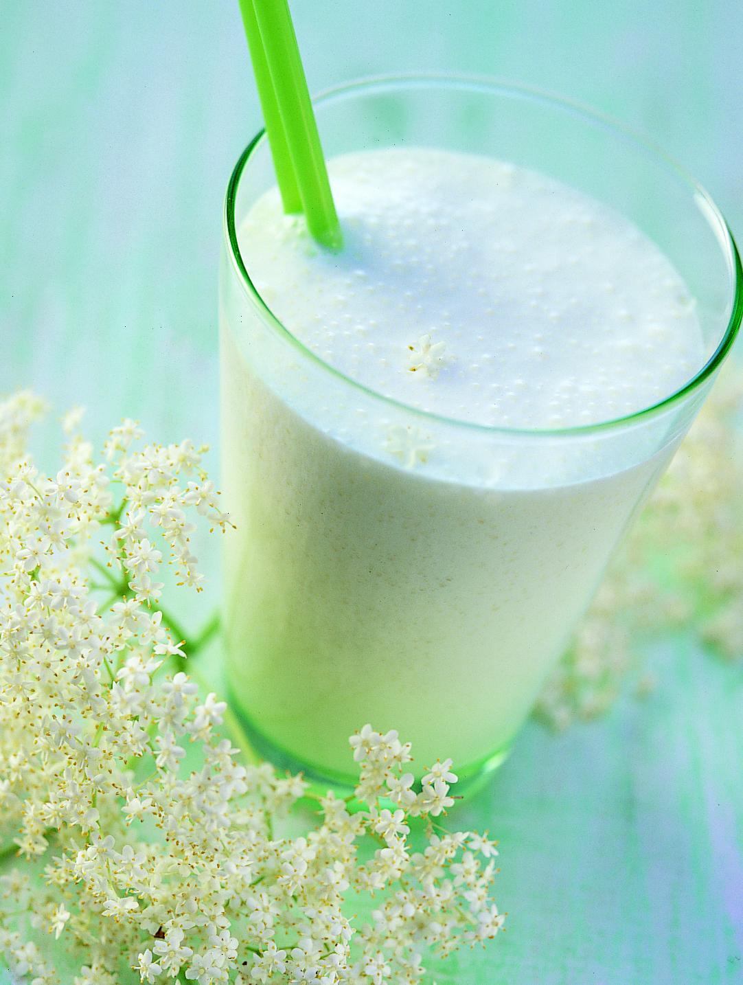 Milkshake aux fleurs de sureau