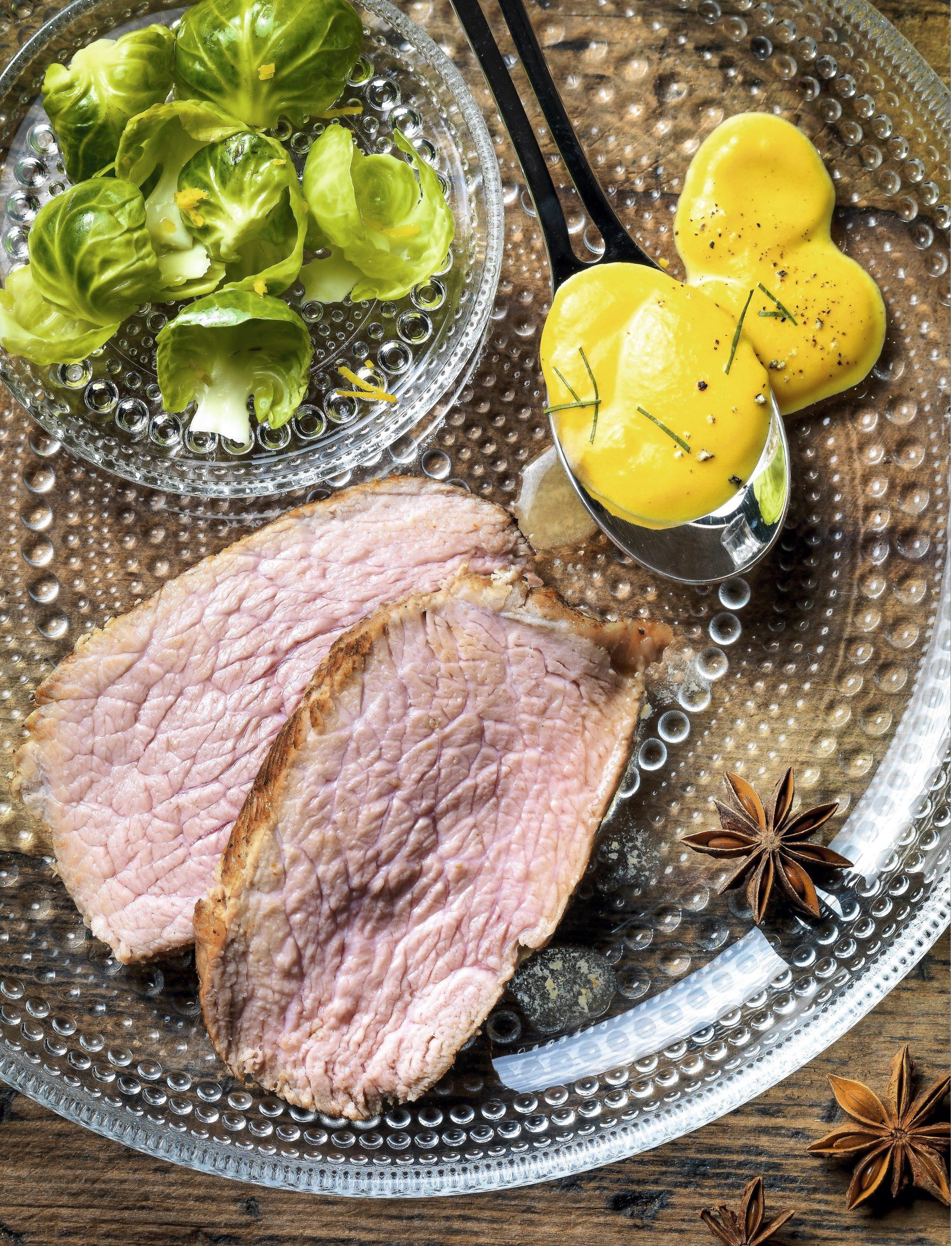 Kalbsbraten mit Sternanis- Rüebli-Sauce