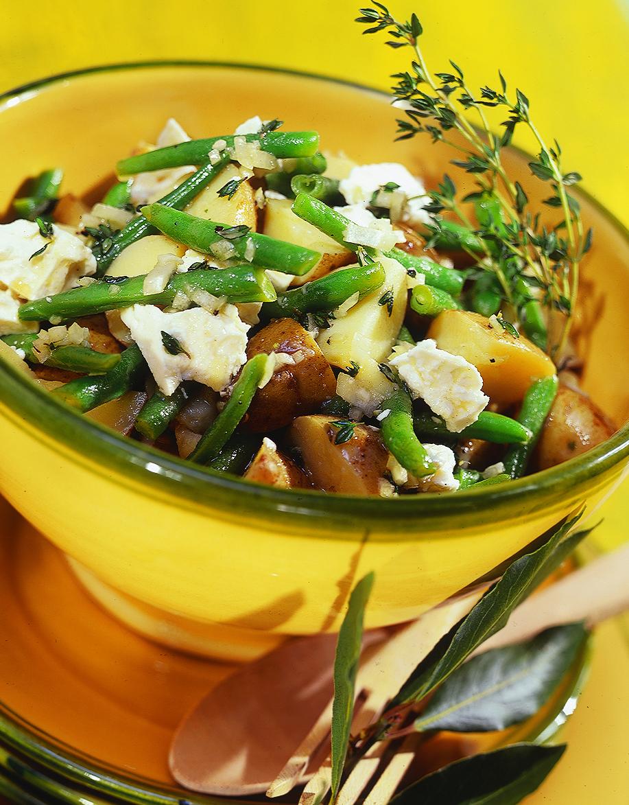 Salade de haricots et de pommes de terre