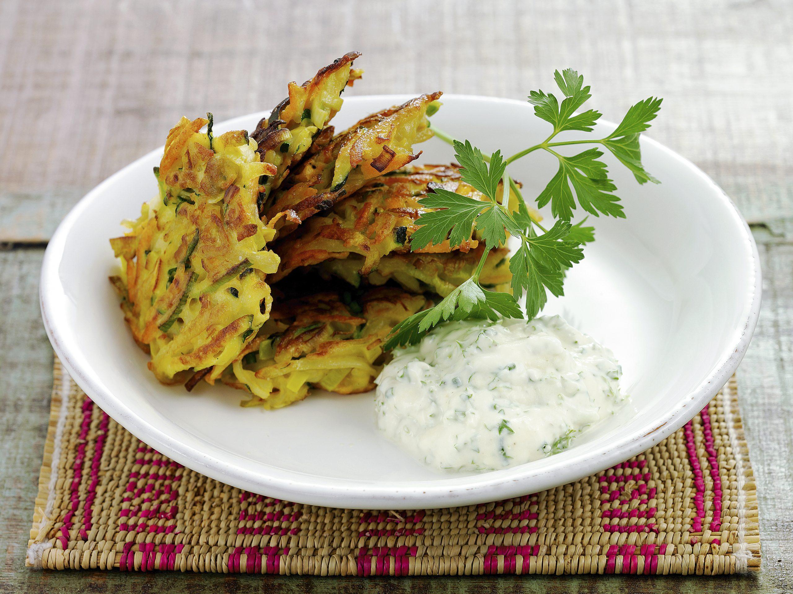Galettes de pommes de terre et de légumes