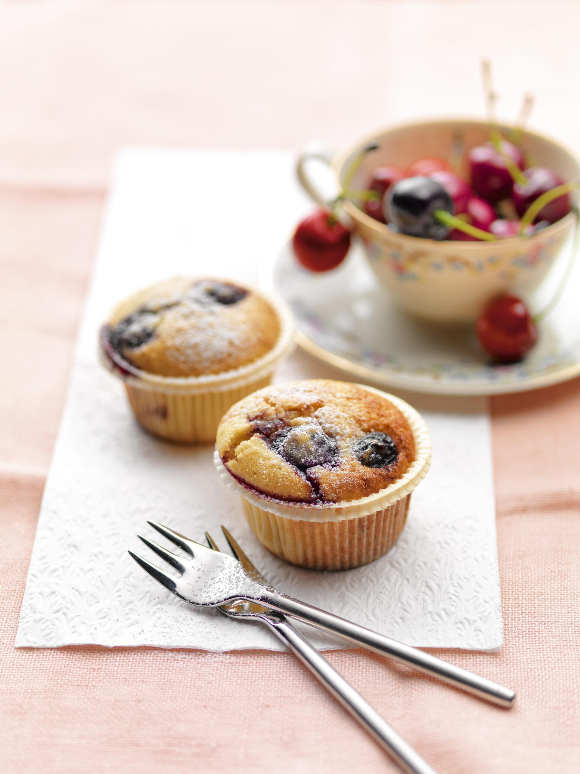 Kirschen-Joghurt-Mandel-Muffins