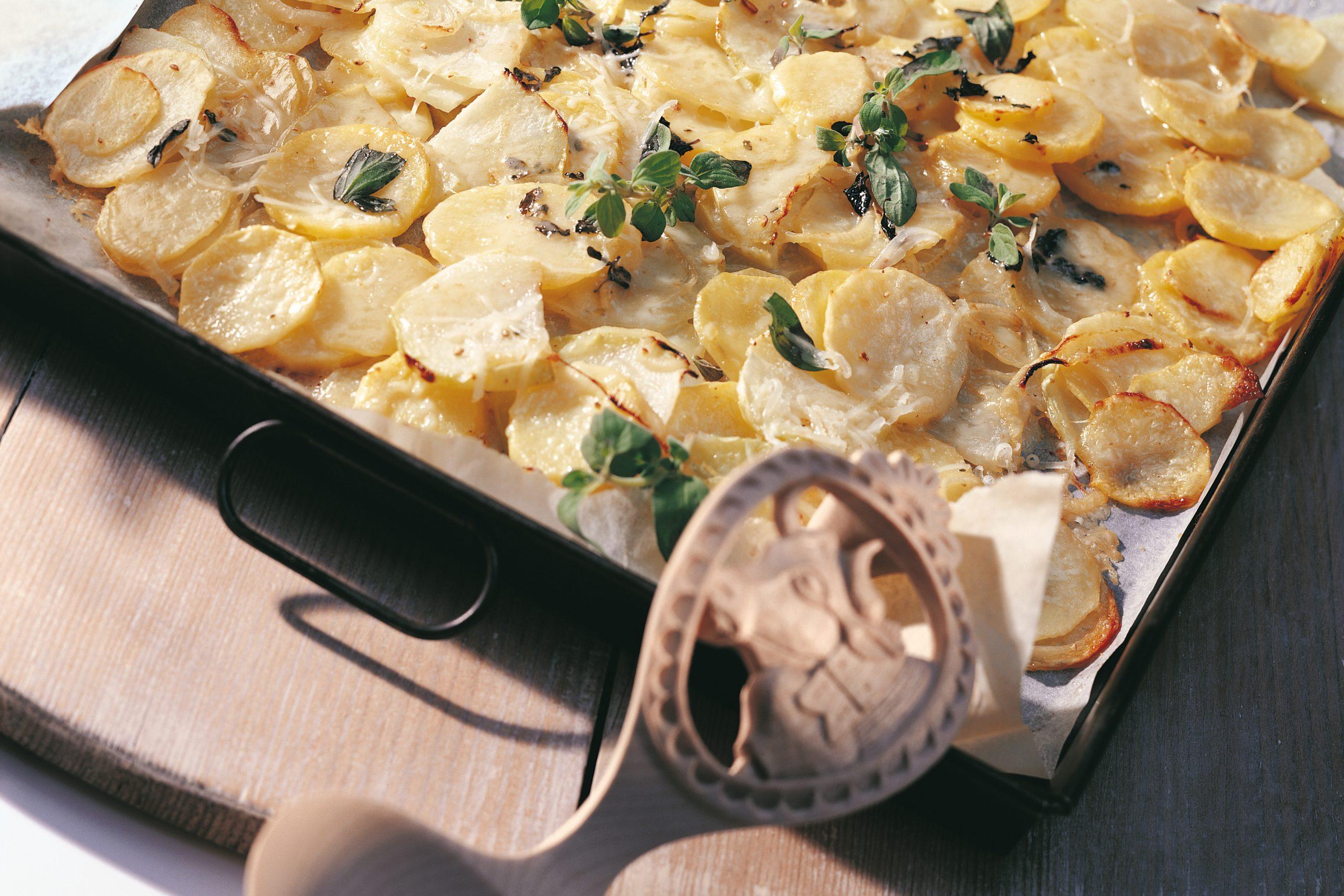 Kohlrabi-Kartoffelgratin