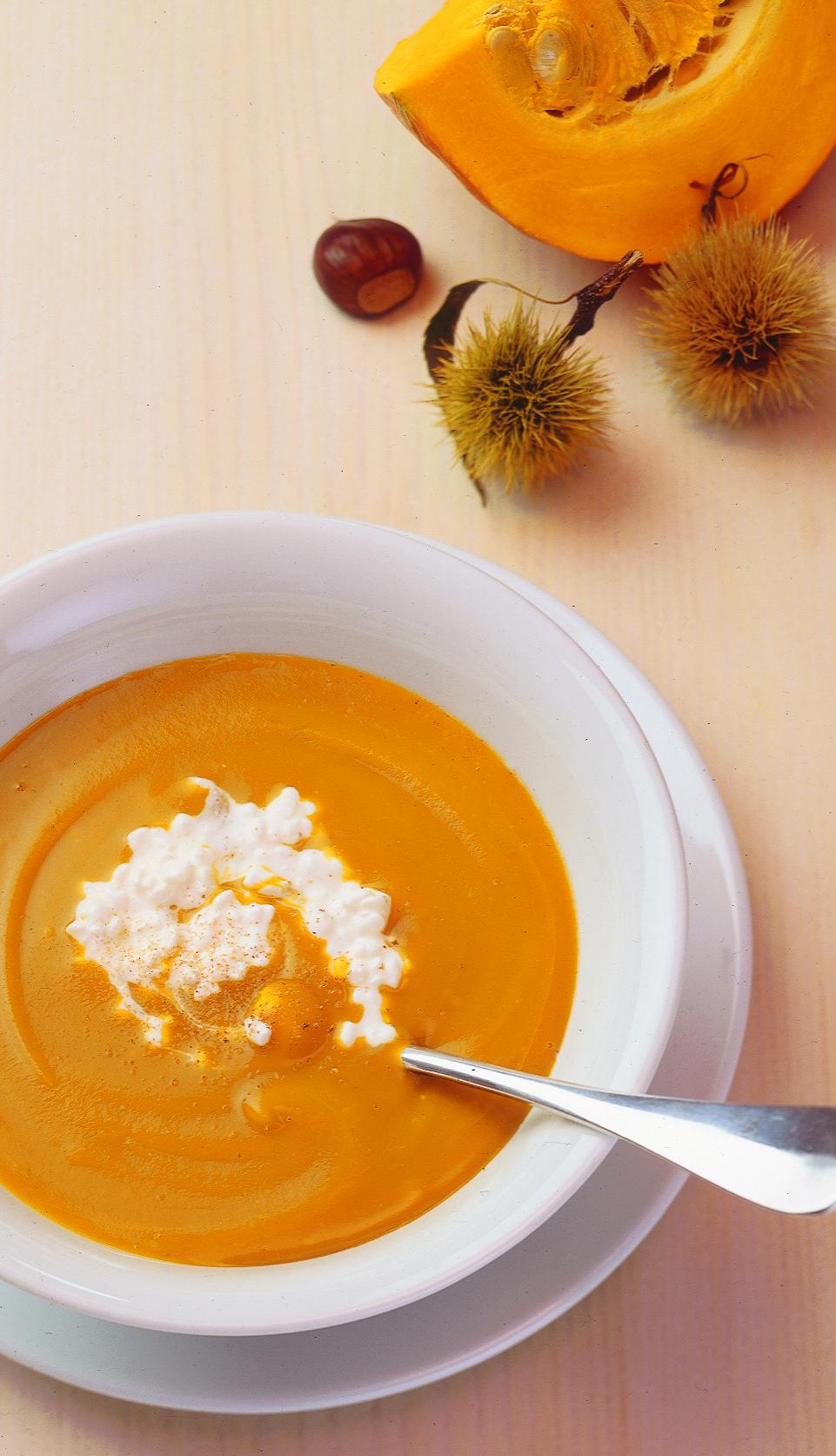 Kürbis-Marroni-Suppe