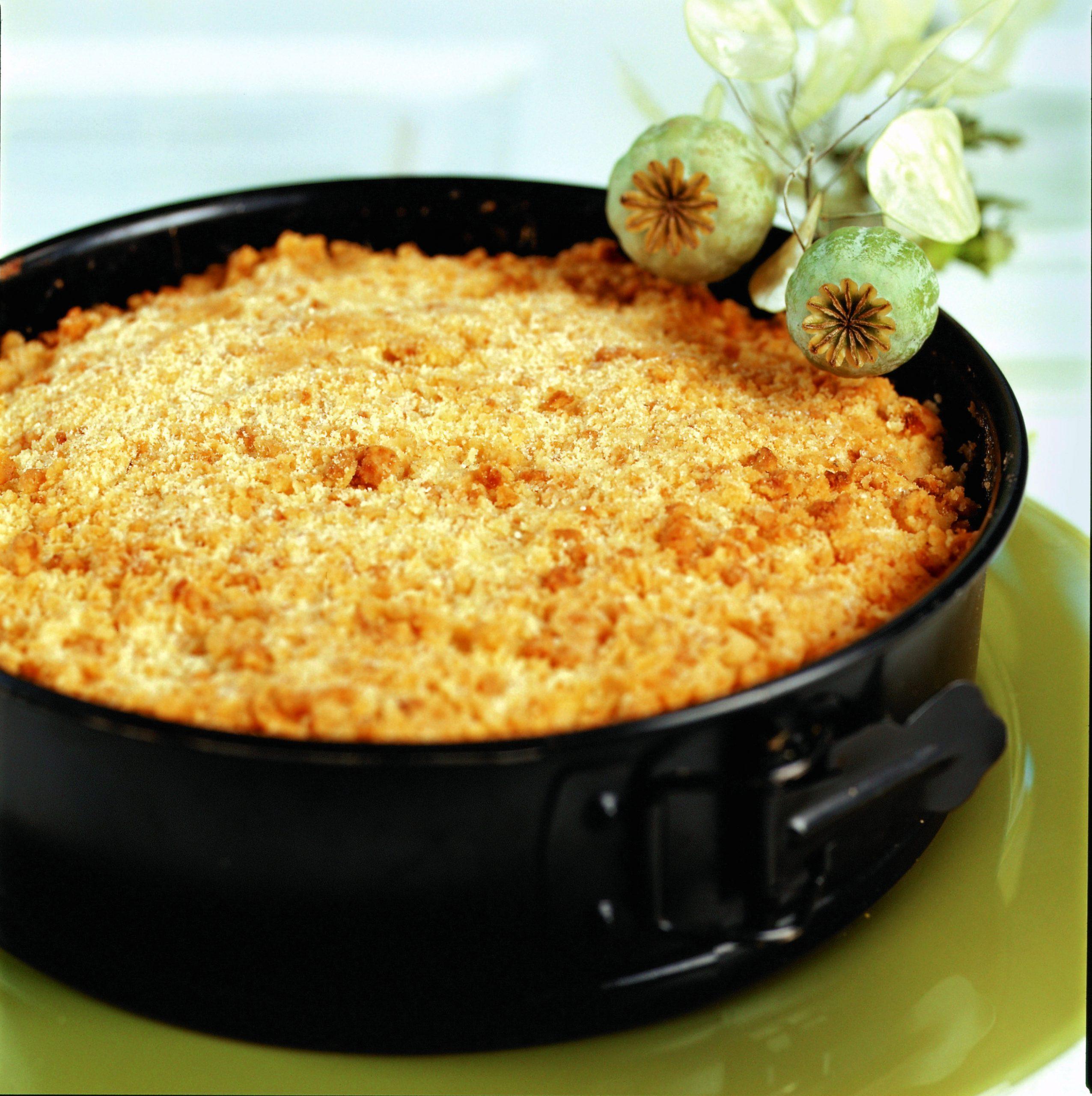 Kürbis-Streuselkuchen mit Äpfeln