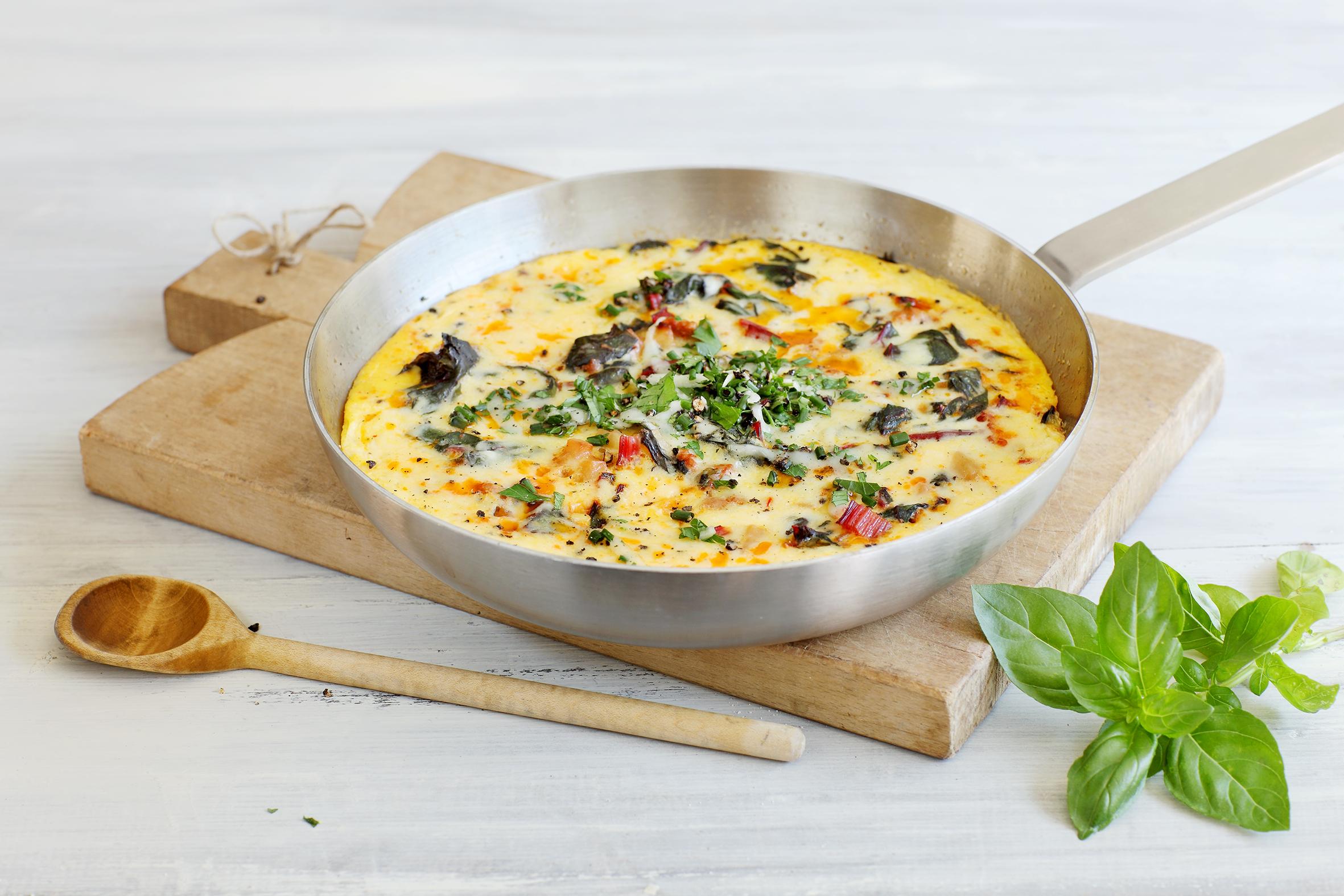 Mangold-Tortilla mit Chorizo