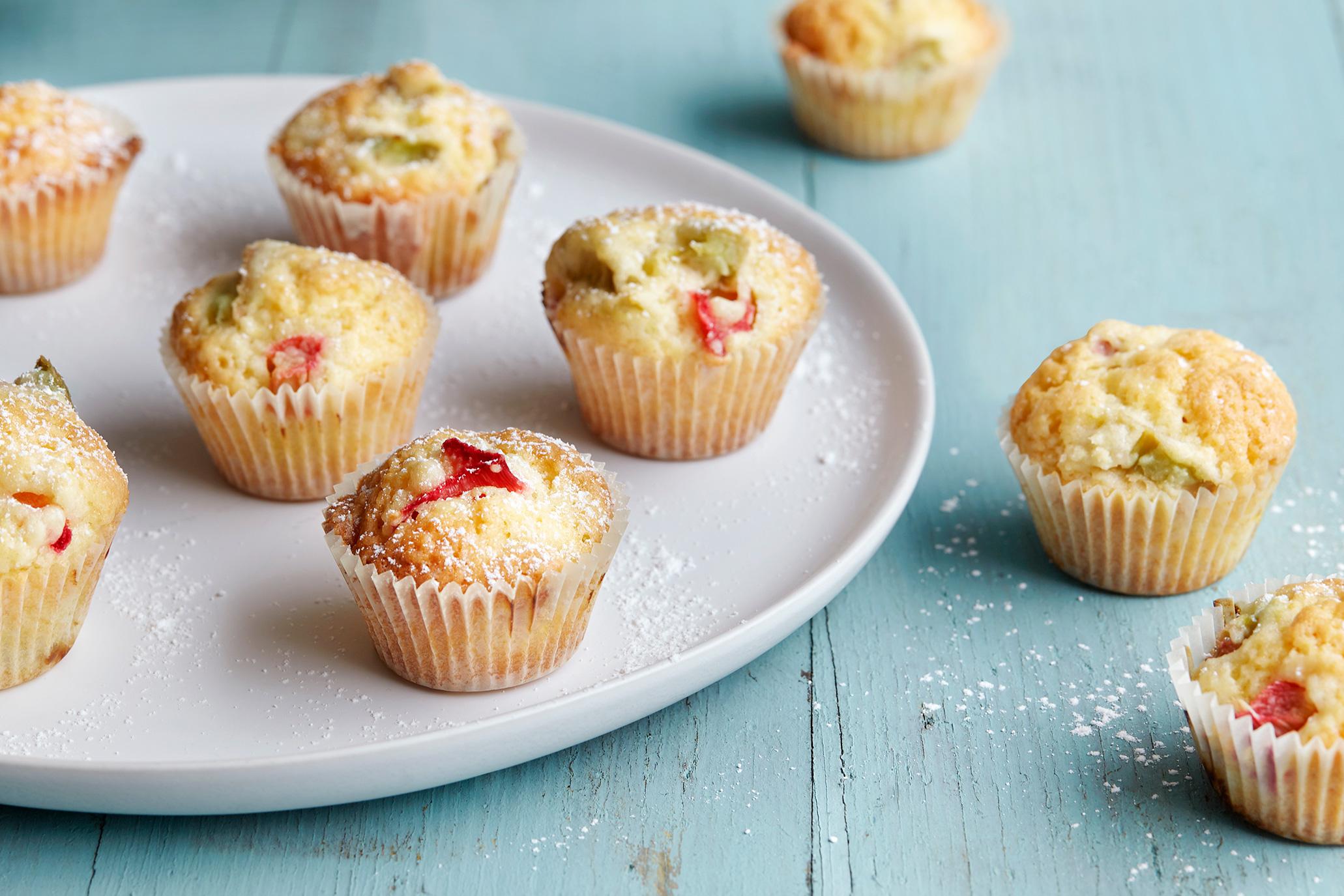 Mini-Rhabarber-Muffins