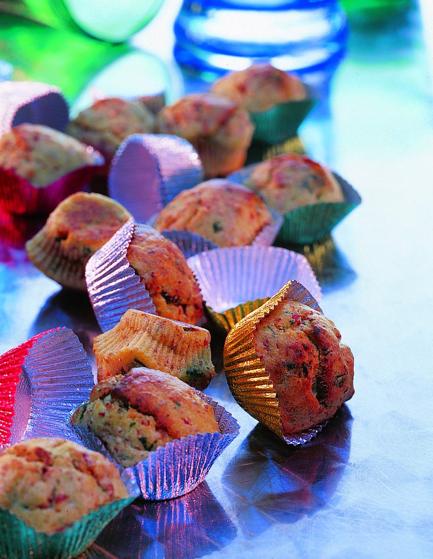 Mini-muffins au jambon