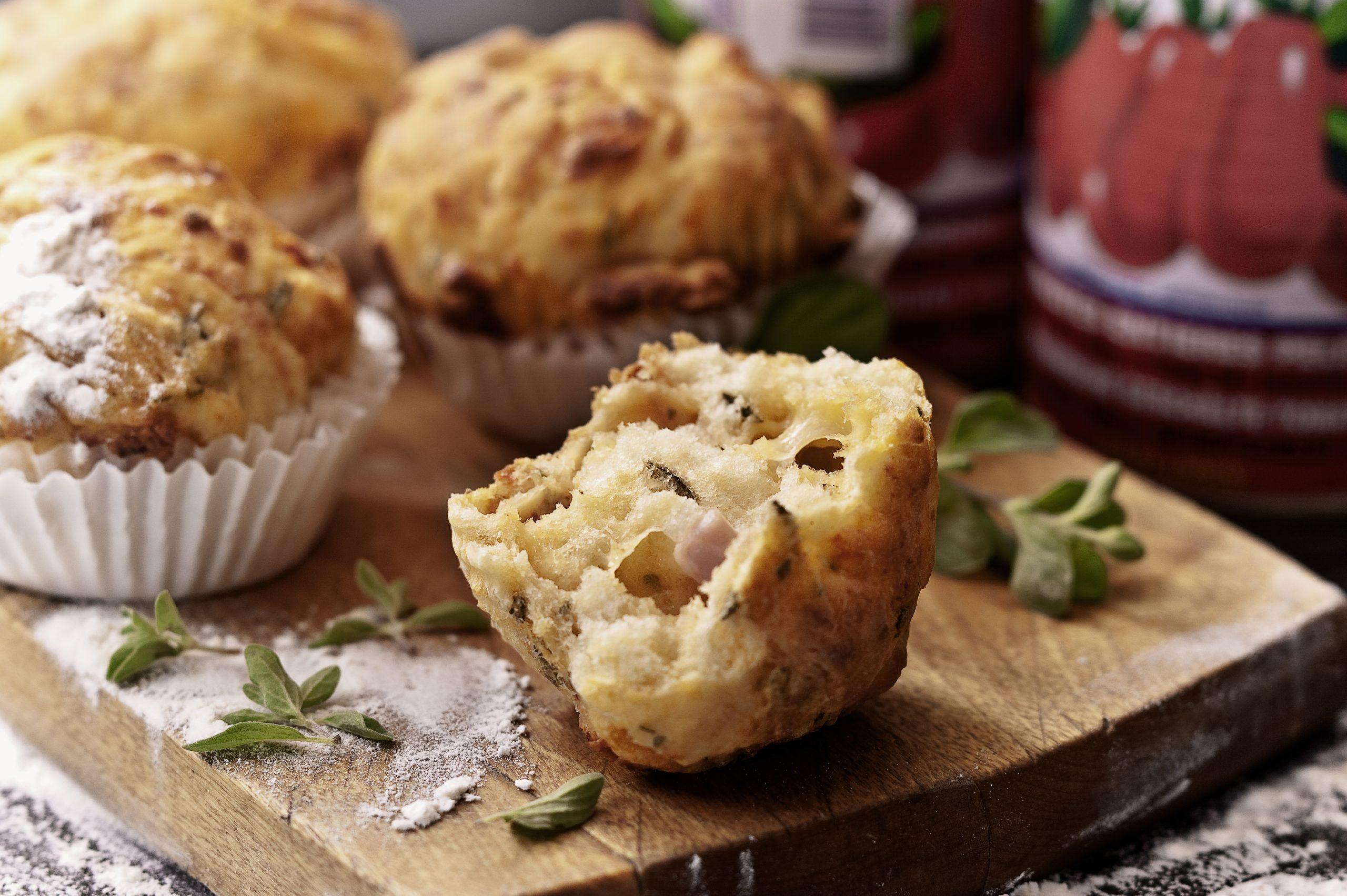 Mozzarella-Schinken-Muffins