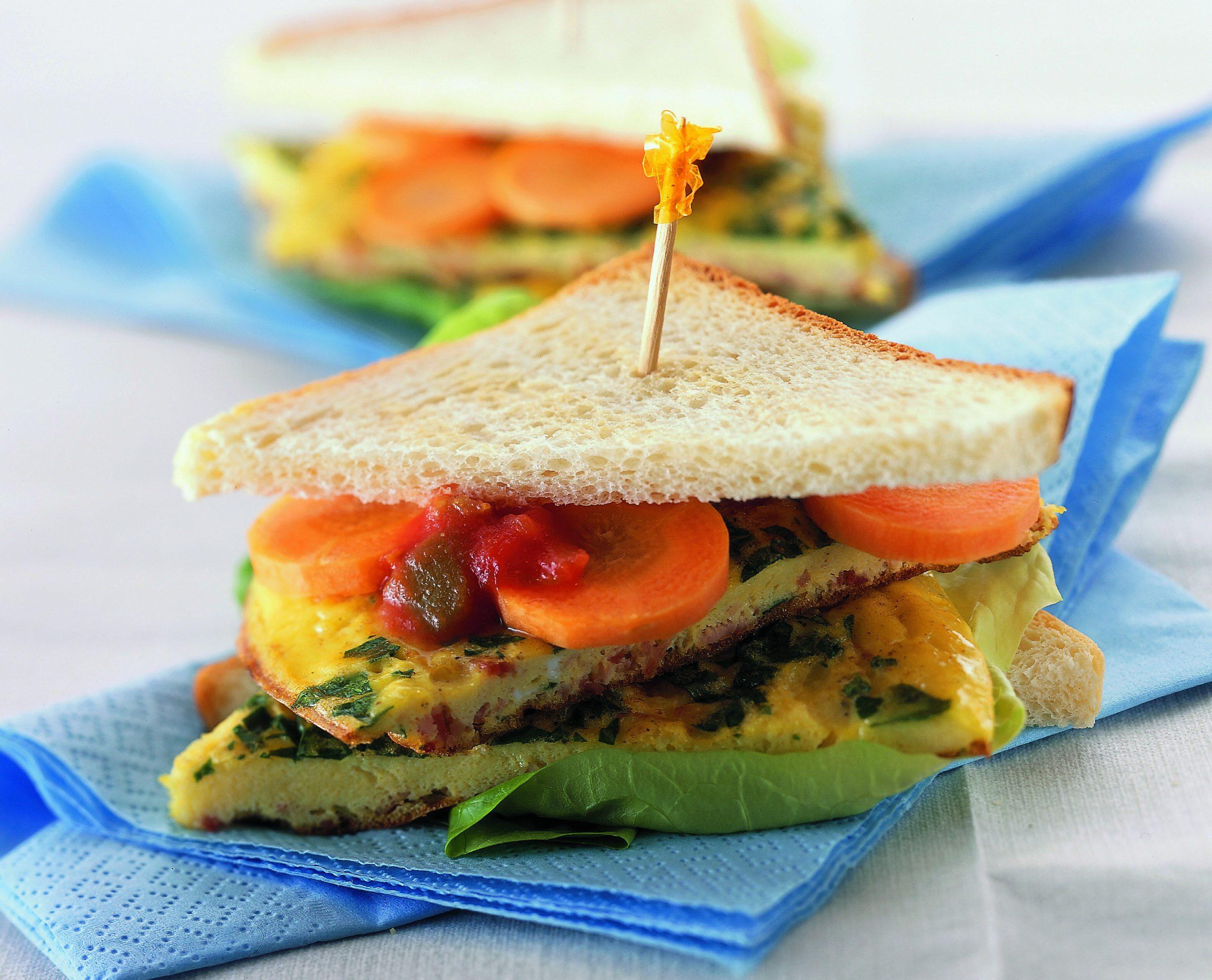 Sandwich à l'omelette