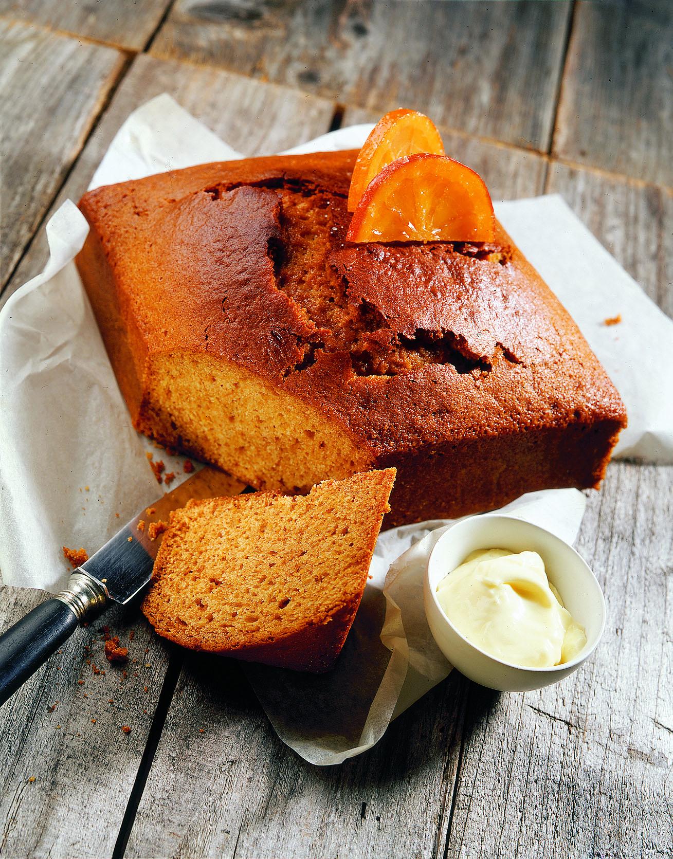 Orangenlebkuchen mit Mascarpone-Aufstrich