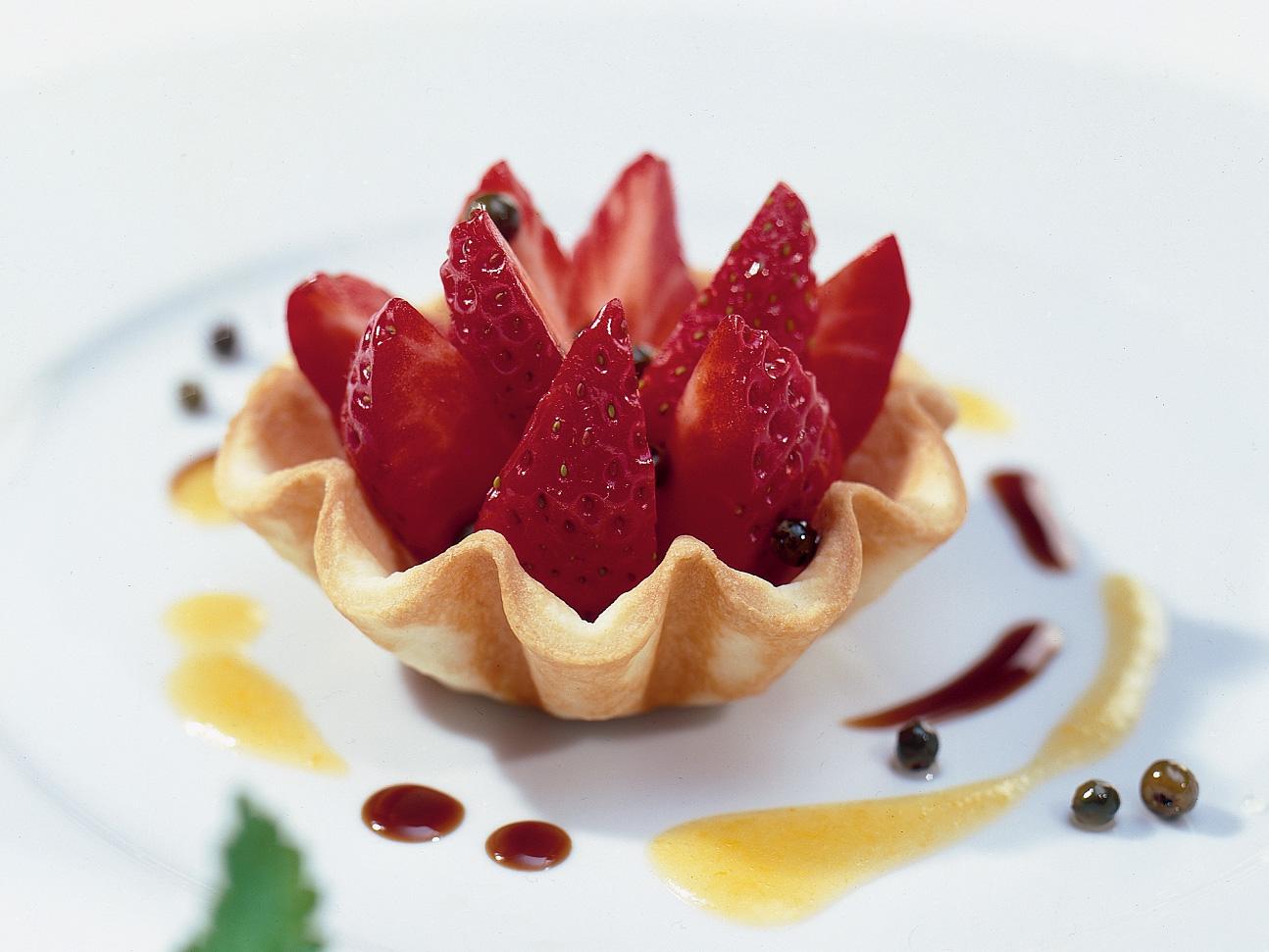 Petits panachés  de fraises