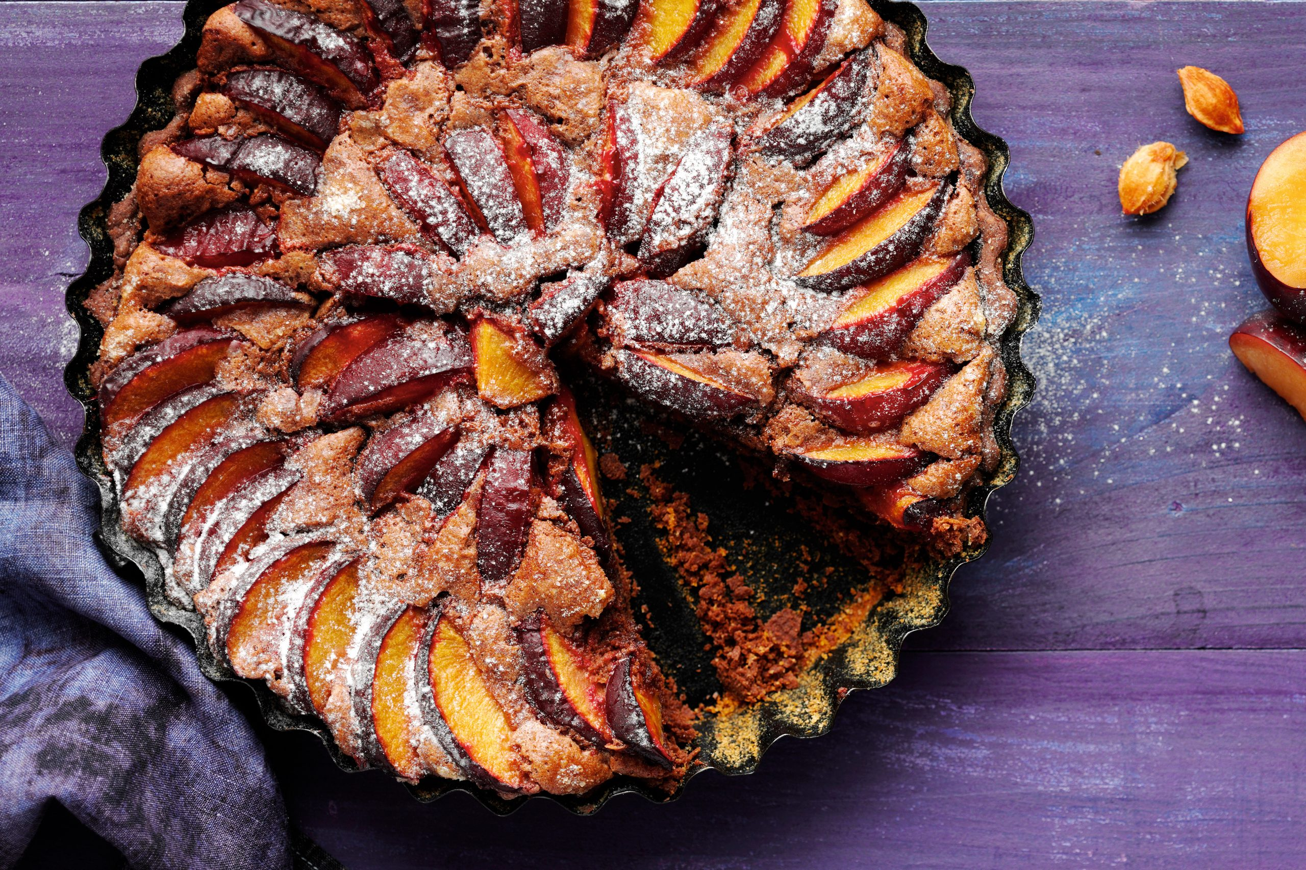 Pflaumenkuchen mit Schokolade