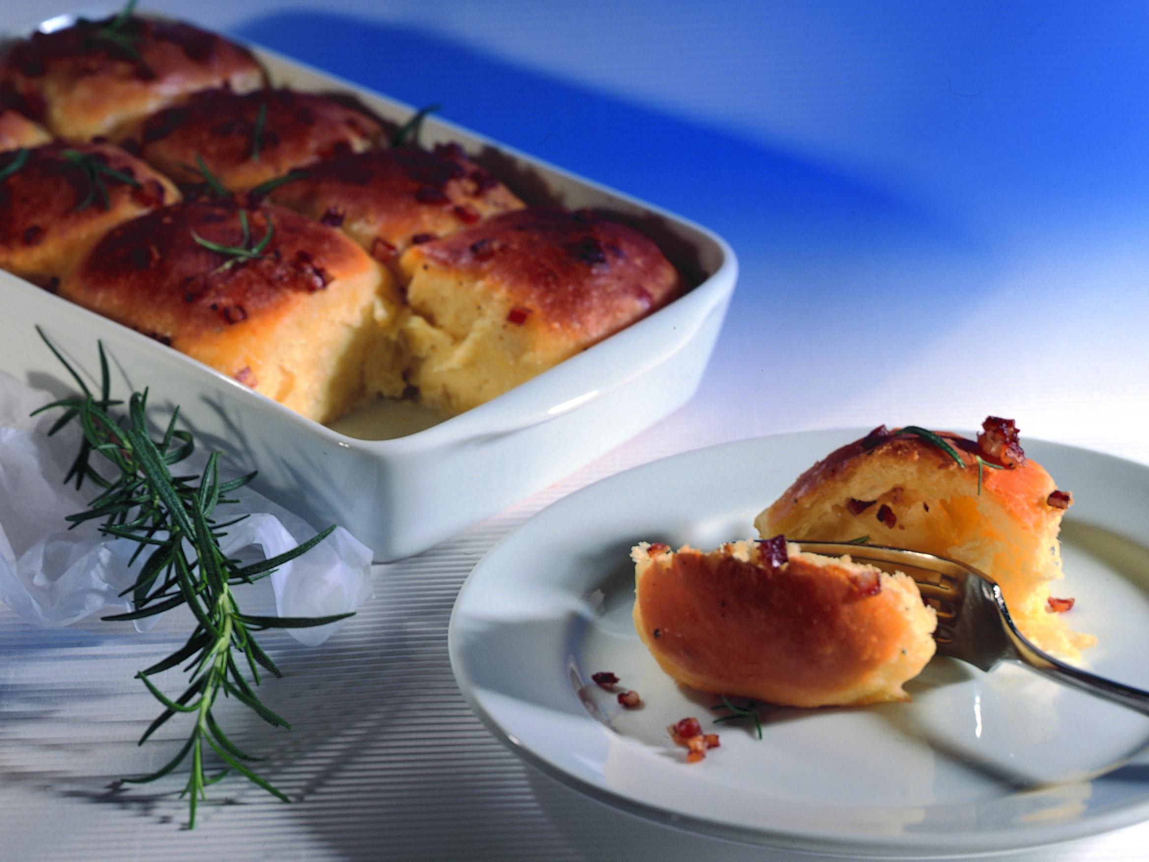Rondelles de pâte levée à la mozzarella