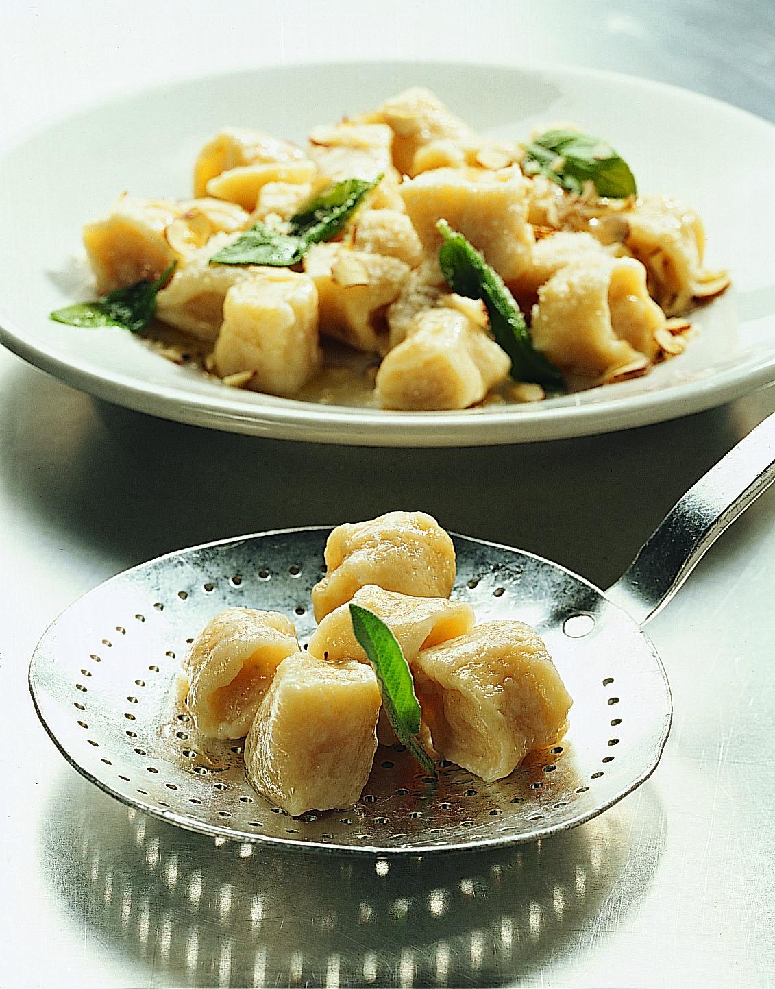 Gnocchi aux coings beurre noix et sauge