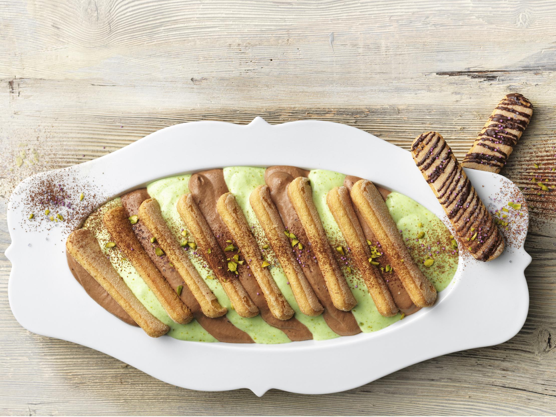 Tiramisu chocolat-pistache