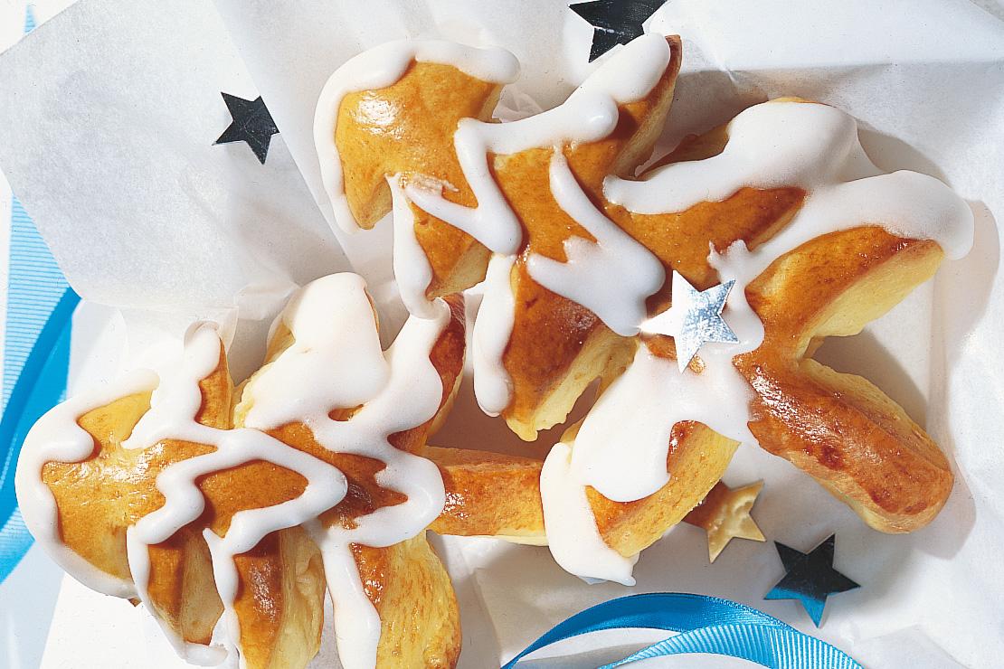 Sapins de Noël en pâte levée