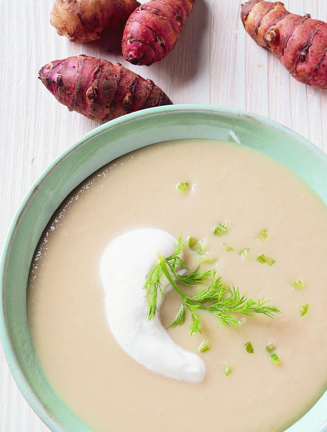 Soupe au topinambour et au fenouil