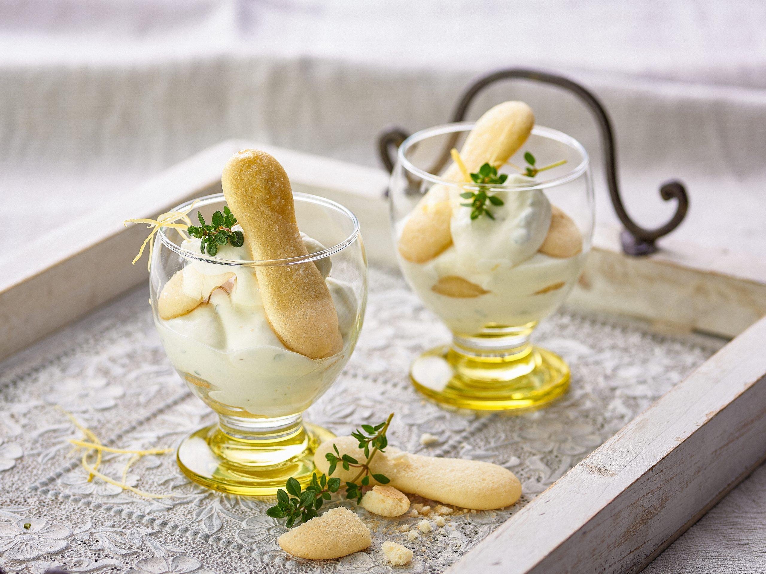 Zitronen-Tiramisu im Glas (ohne Ei)