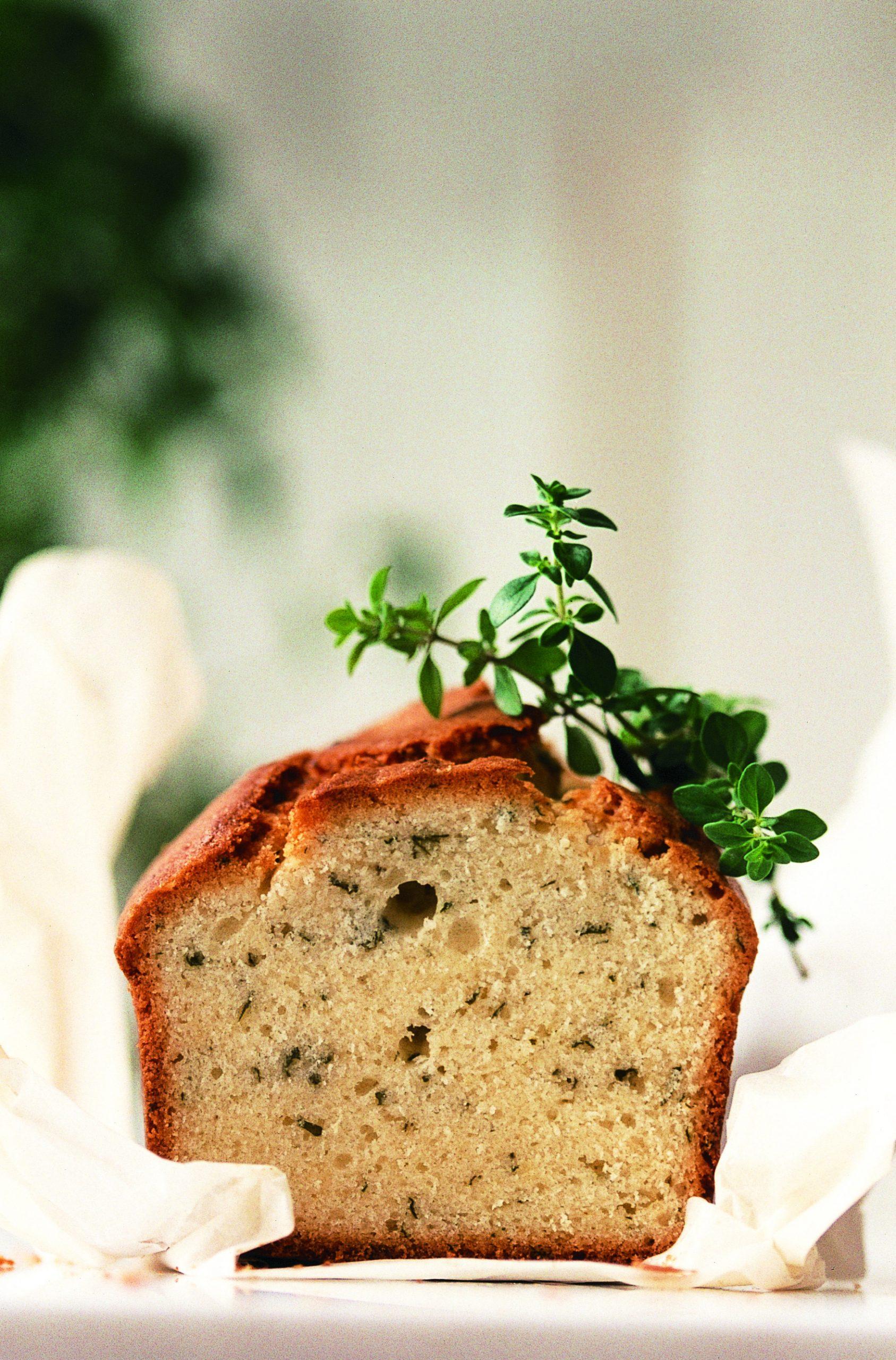 Cake aux herbes citronnées
