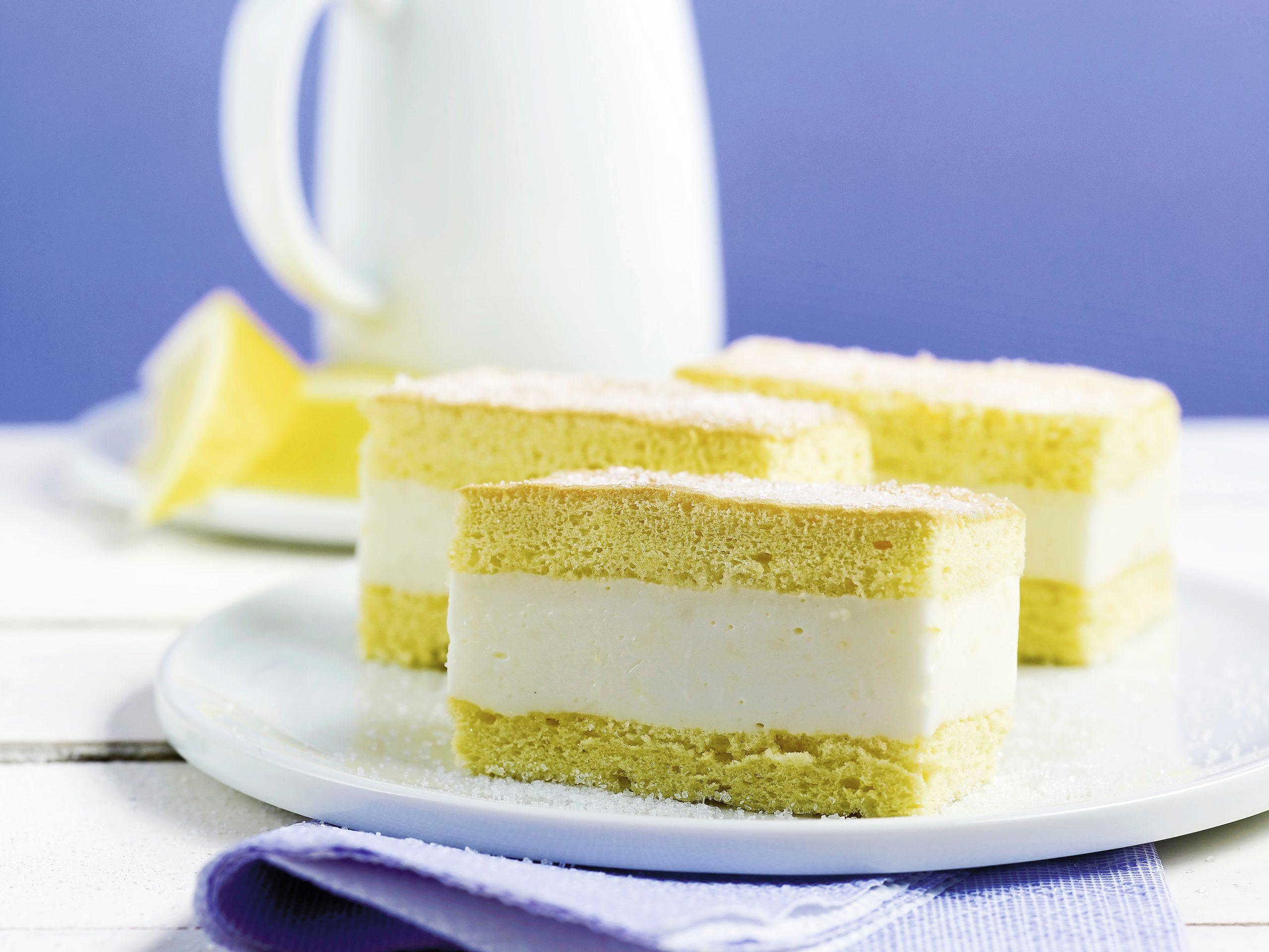 Zitronenschnitten mit Joghurt